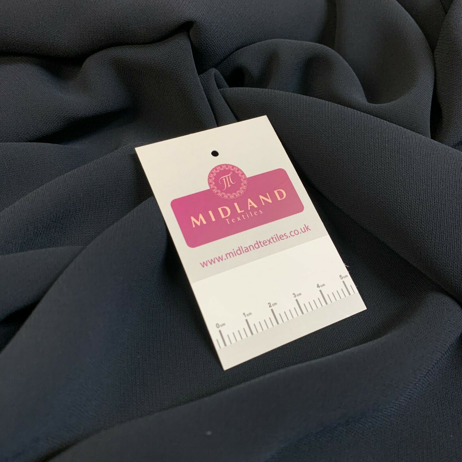 Navy Blue Georgette Elastane Fabric M1472