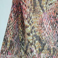 "Animal Print Royal Micro Satin Fabric 58""  M145-23 Mtex"