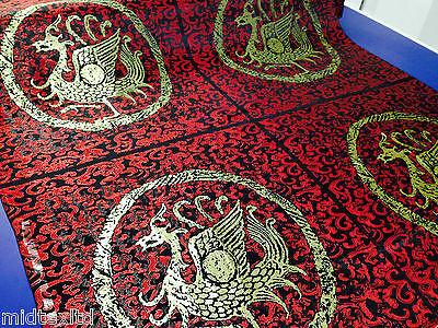 Chinese Fabric Dragon Brocade for Cushions 2 Panels - 55cm by 55cm.M48 Mtex