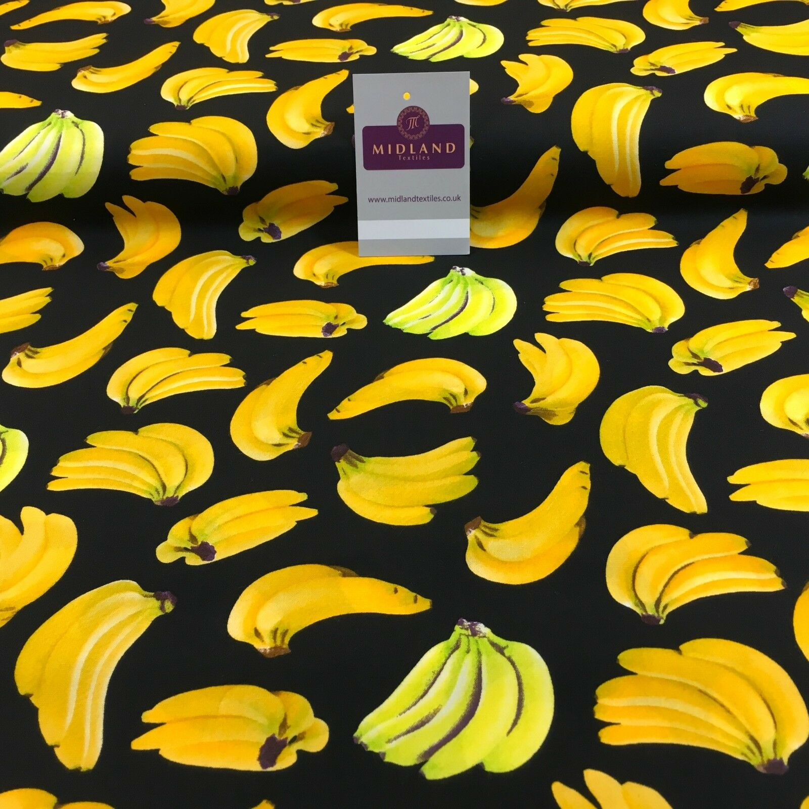 "Bunches of Banana cotton poplin printed crafting fabric 44"" M768 Mtex"