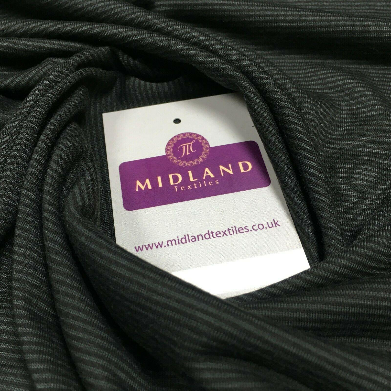Dark Grey Micro ribbed jersey Dress Fabric 147 cm M720-68 Mtex