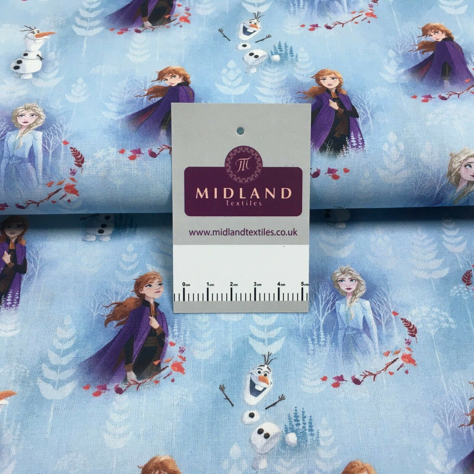 Blue Frozen Licensed Digital Printed 100% Cotton Fabric MH1453 Mtex