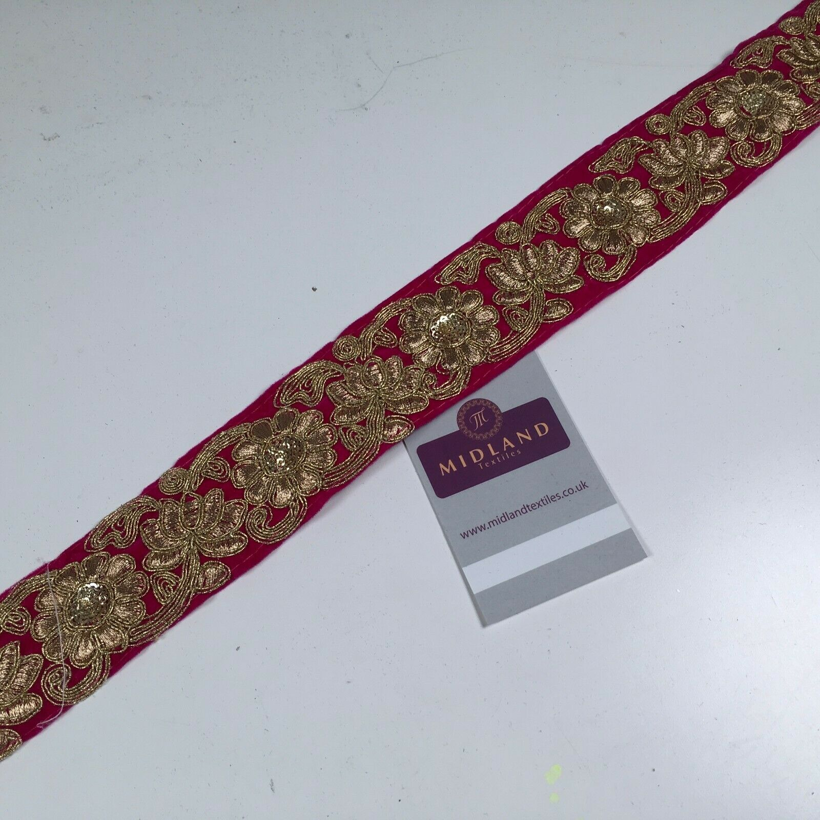 45mm Velvet floral embroidered border sari edging M1343