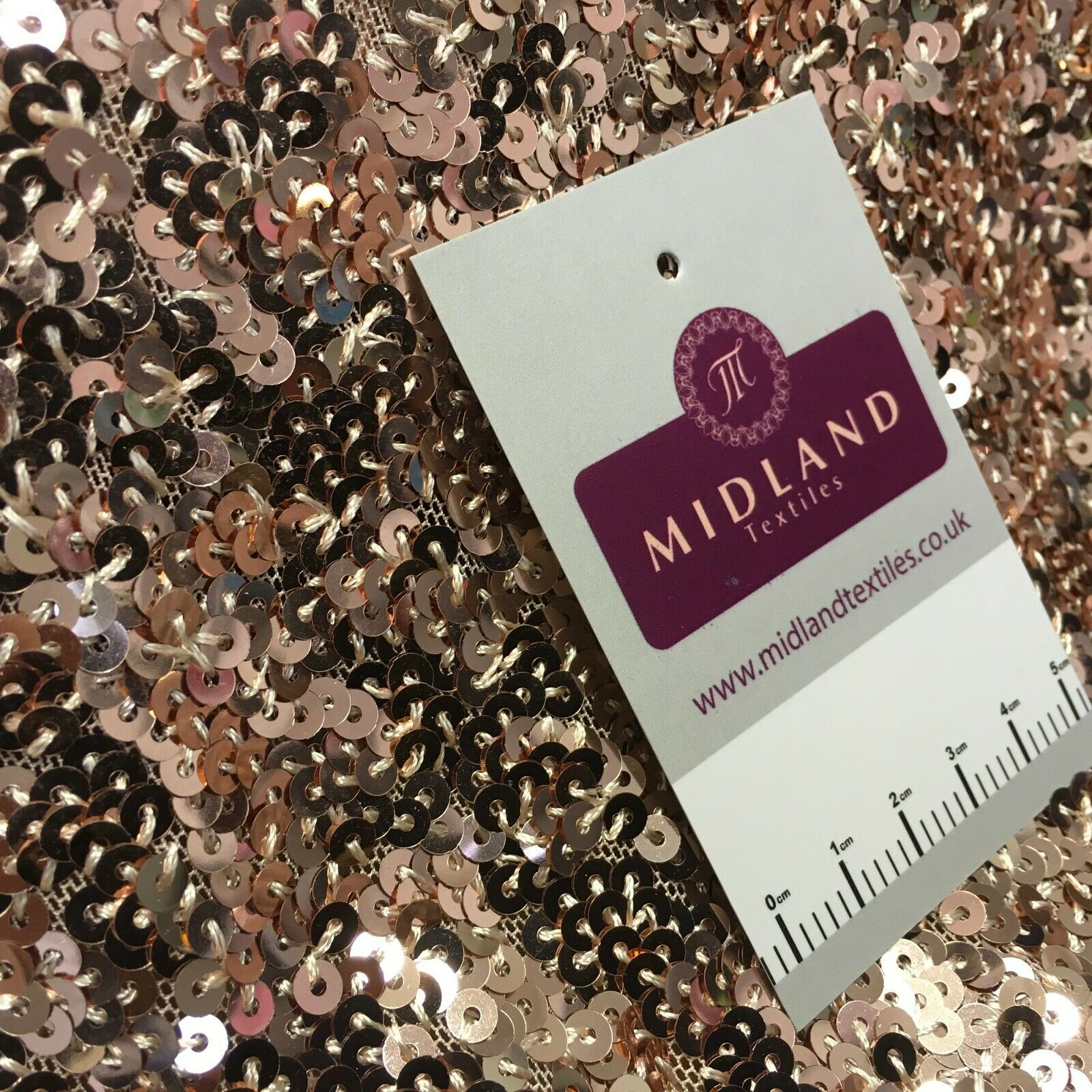 Rose Pink All over sequin stretch dress fabric M1439 Mtex