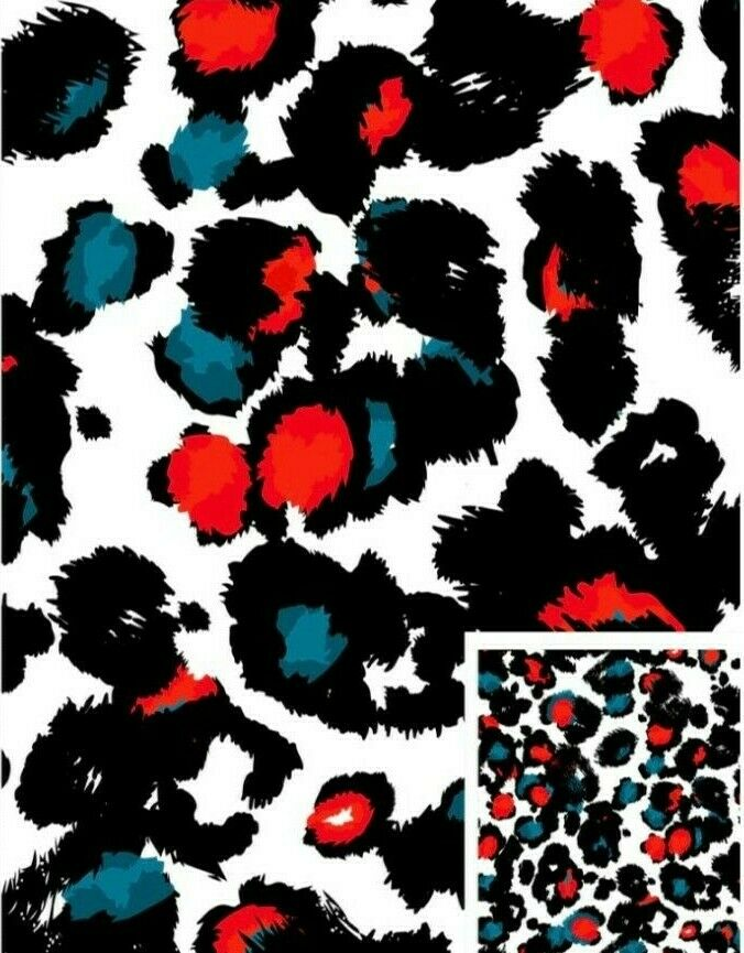 Ivory Animal Abstract 2 way jersey stretch dress fabric M1523