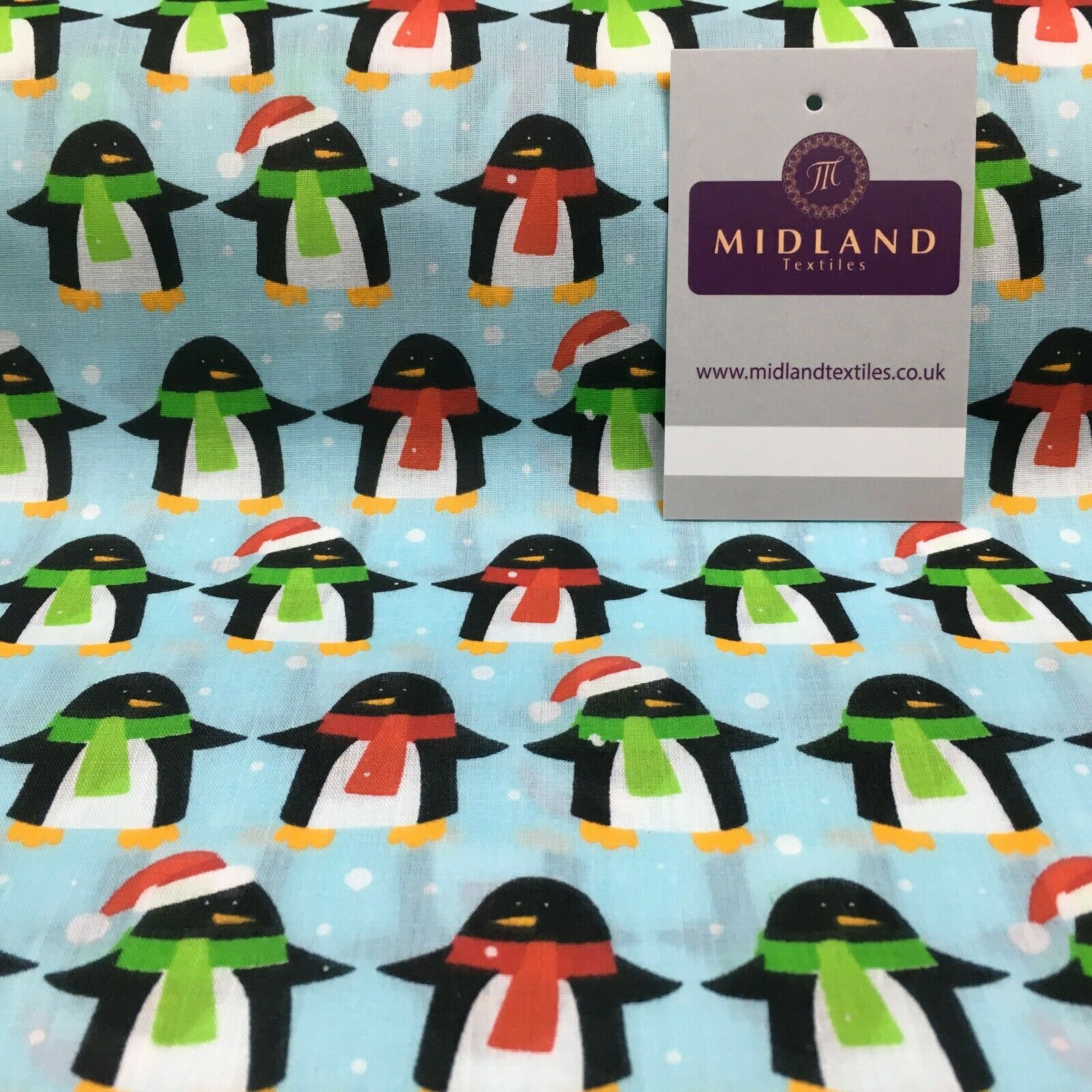 Christmas Penguin Xmas Printed cotton Fabric Craft Gifts 110 cm MD1289 Mtex