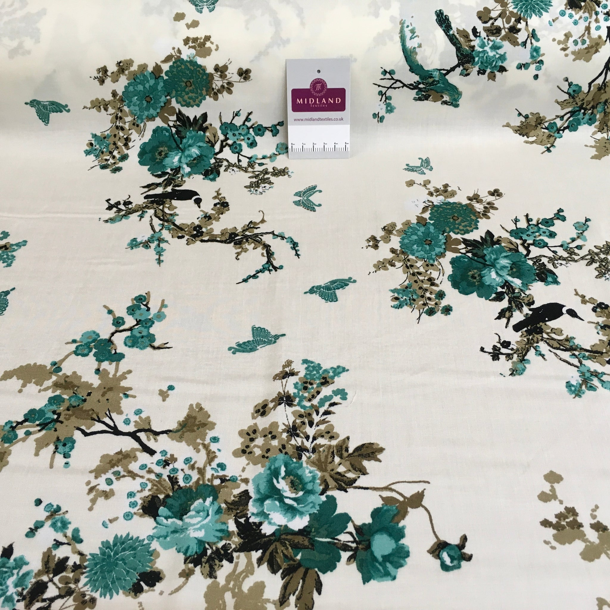 Floral prints fine Viscose Rayon dress challis Fabric M1469 Mtex