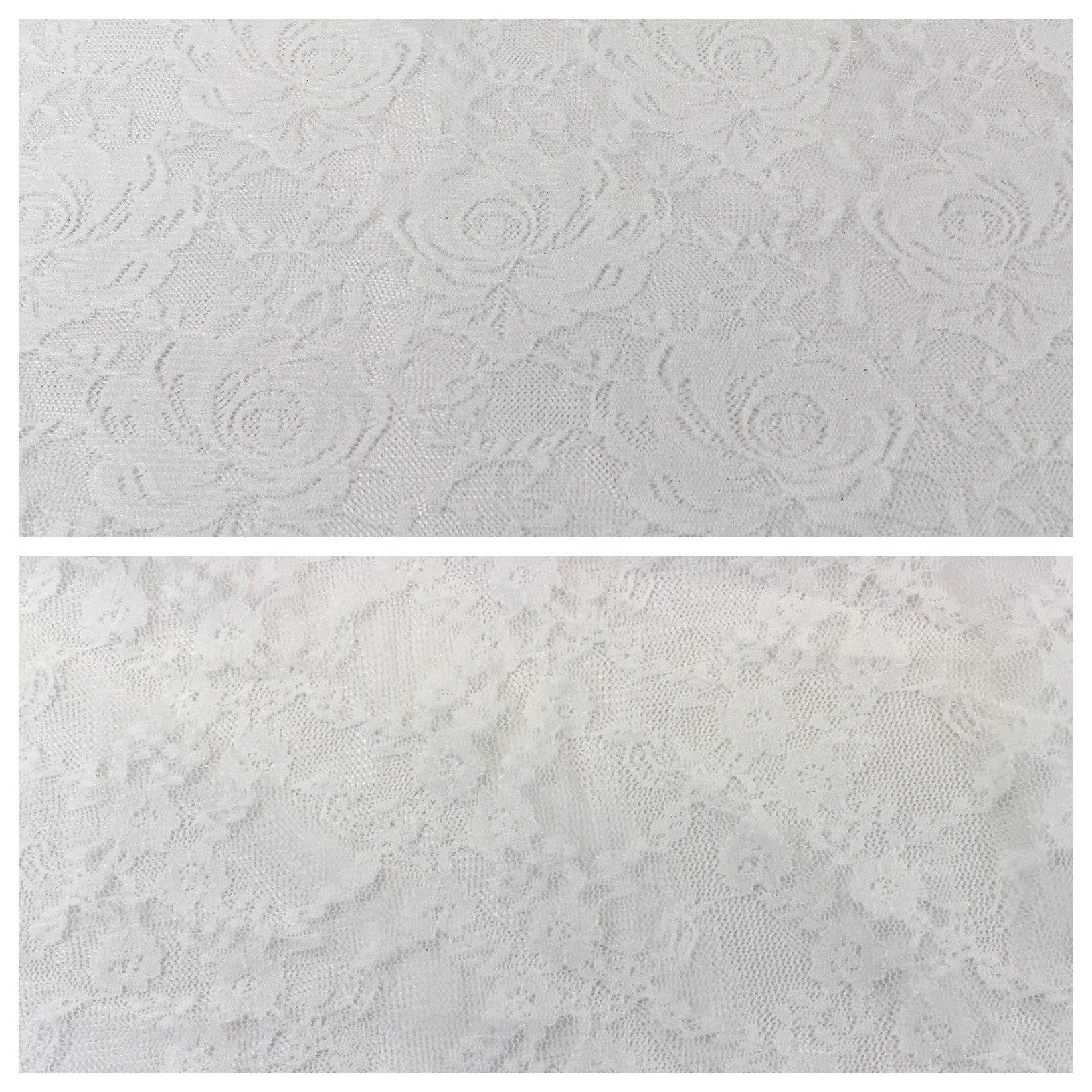 "Vintage floral off white Raschel stretch lace Dress fabric 55"" Wide M644 Mtex - Midland Textiles & Fabric"