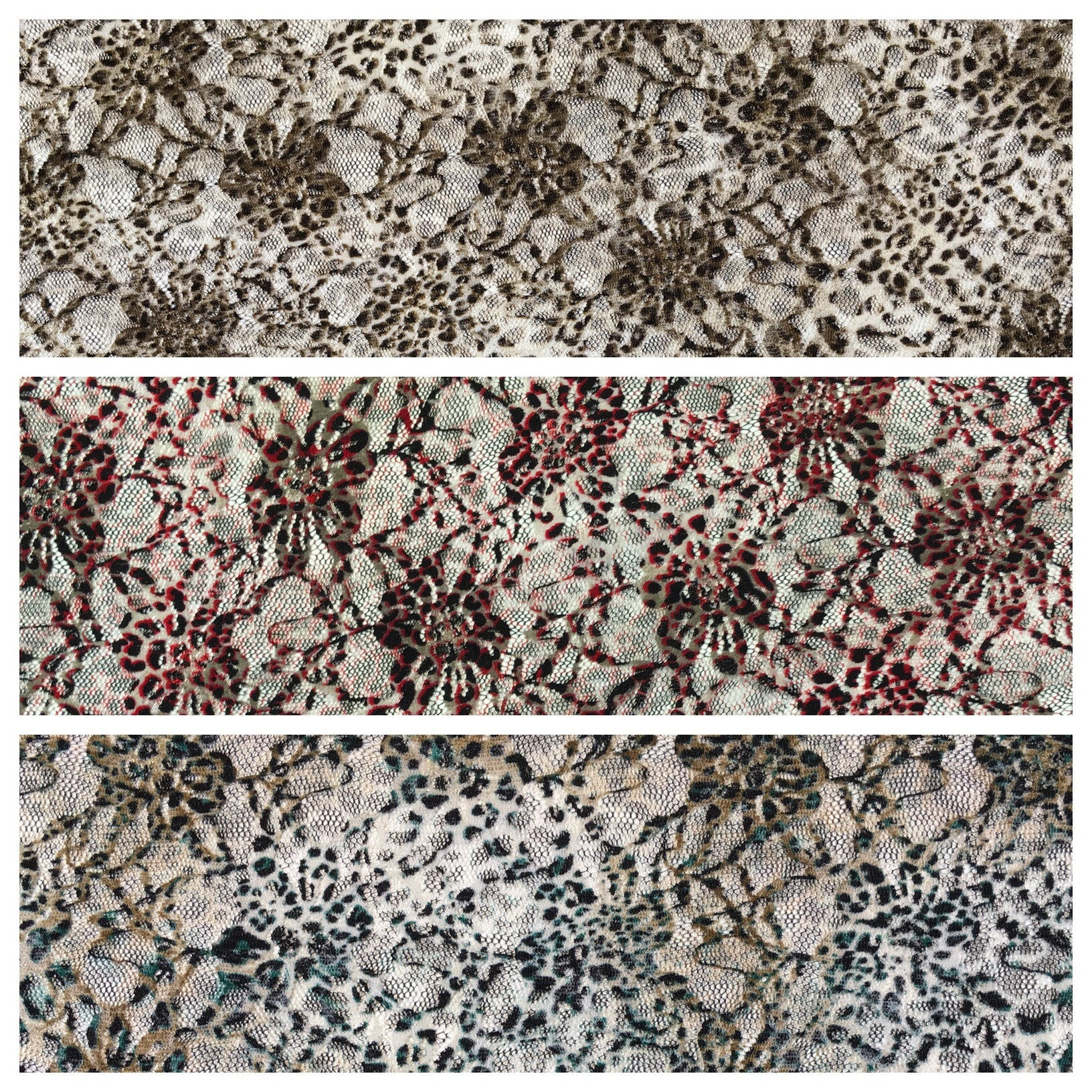 "Animal snake printed raschel stretch lace dress fabric 55"" Wide M646 Mtex - Midland Textiles & Fabric"
