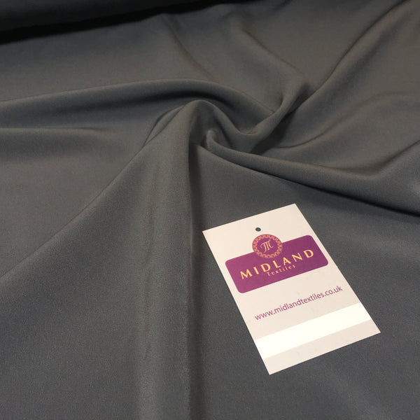 PLAIN POWDER TOUCH POLYESTER CREPE DRESS FABRIC BY THE METRE M5 Mtex