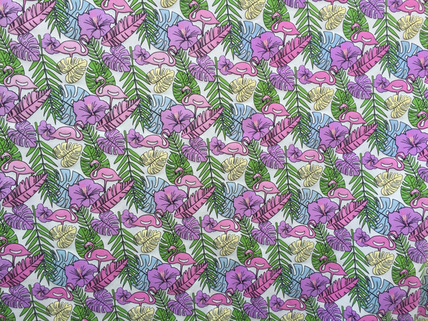 "Flamingo Cotton Jersey UV Colour Changing Light Sun Reactive Fabric 58"" MT955"