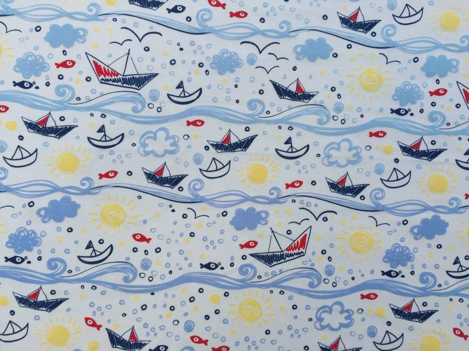 "Sea Cotton Jersey UV Colour Changing Light Sun Reactive Fabric 58"" MT955-8"