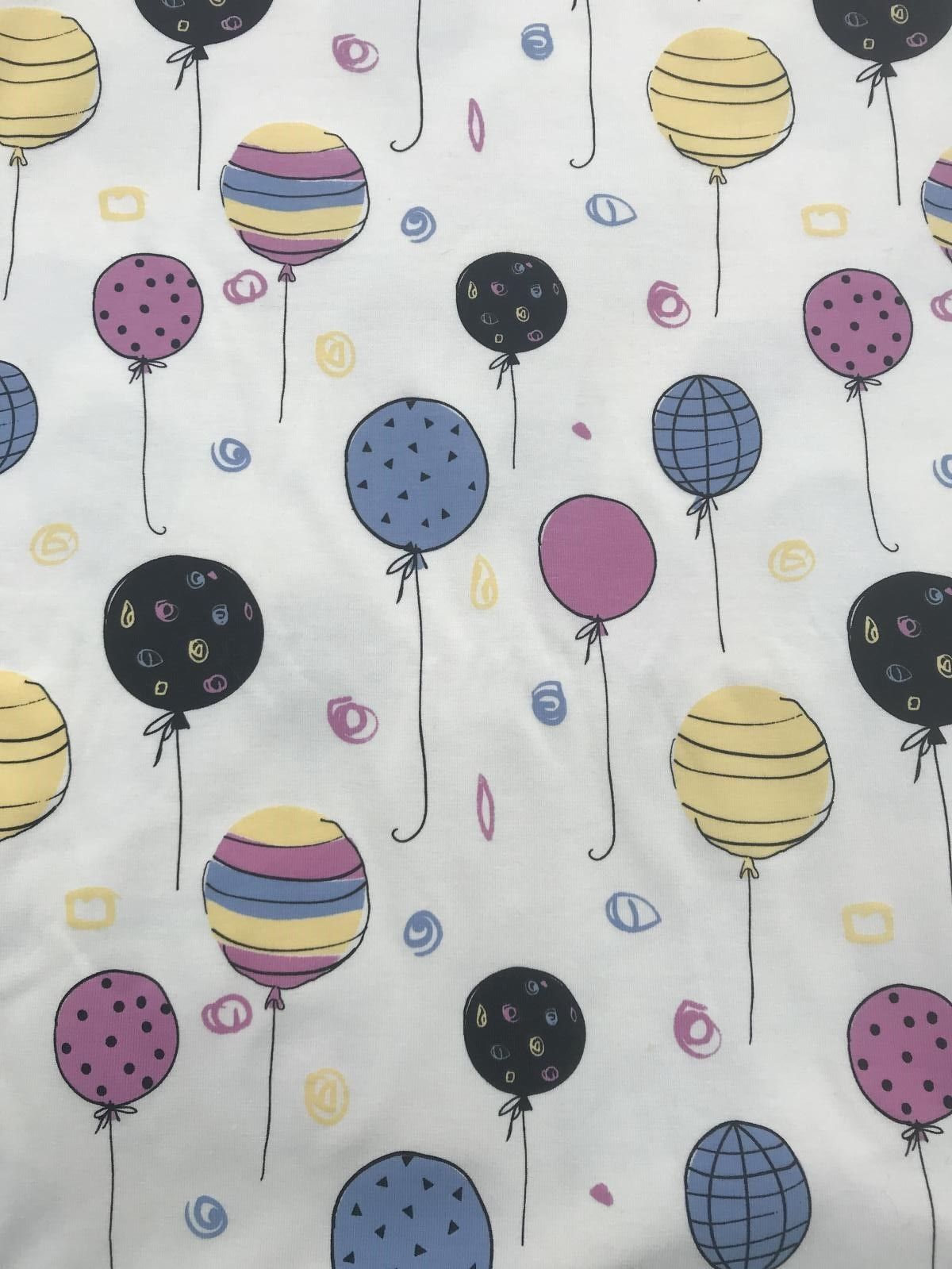 "Balloons Cotton Jersey UV Colour Changing Light Sun Reactive Fabric 58"" MT955-2"