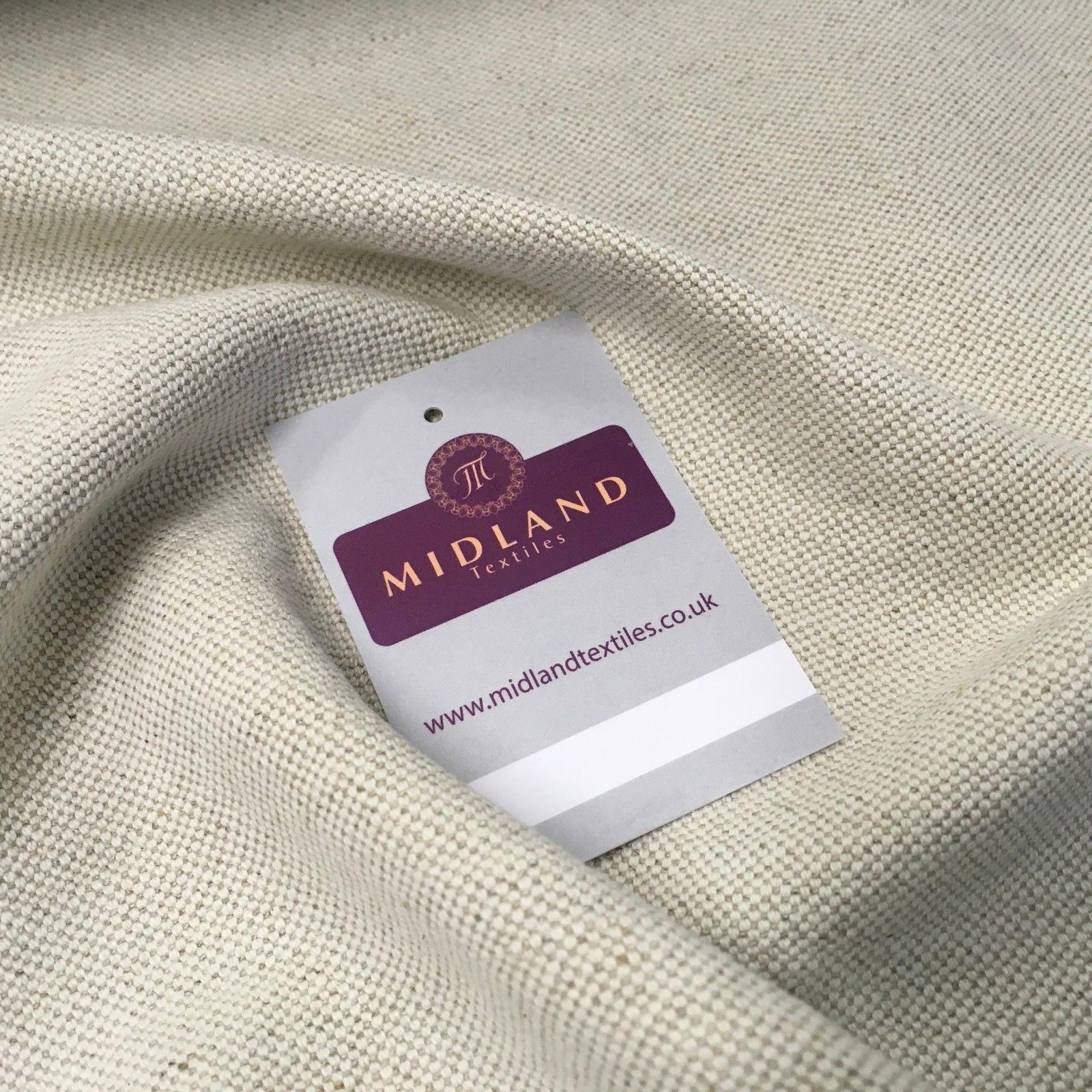 "Natural Plain Heavy Cotton Linen fabric 58"" Wide MK959-5 Mtex"