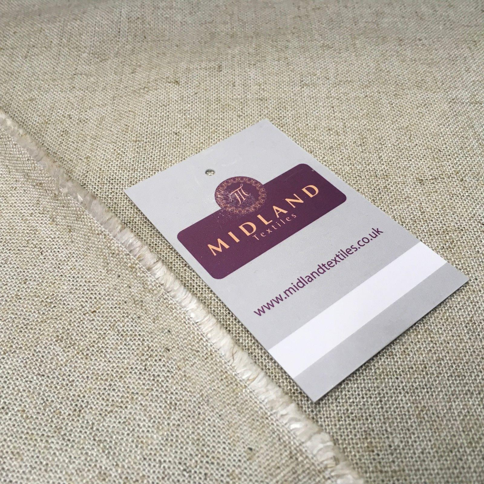 "Natural Plain Rayon Linen fabric 58"" Wide MK959-4 Mtex"
