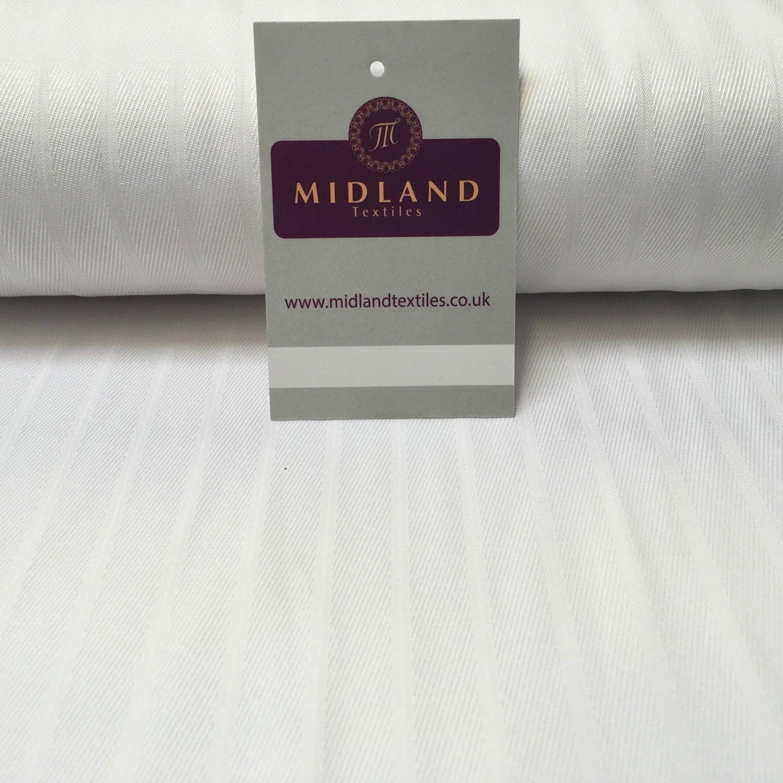 "White Cardinal Self Print Jacquard Fabric ideal for Church Gowns 58"" Wide MK989"