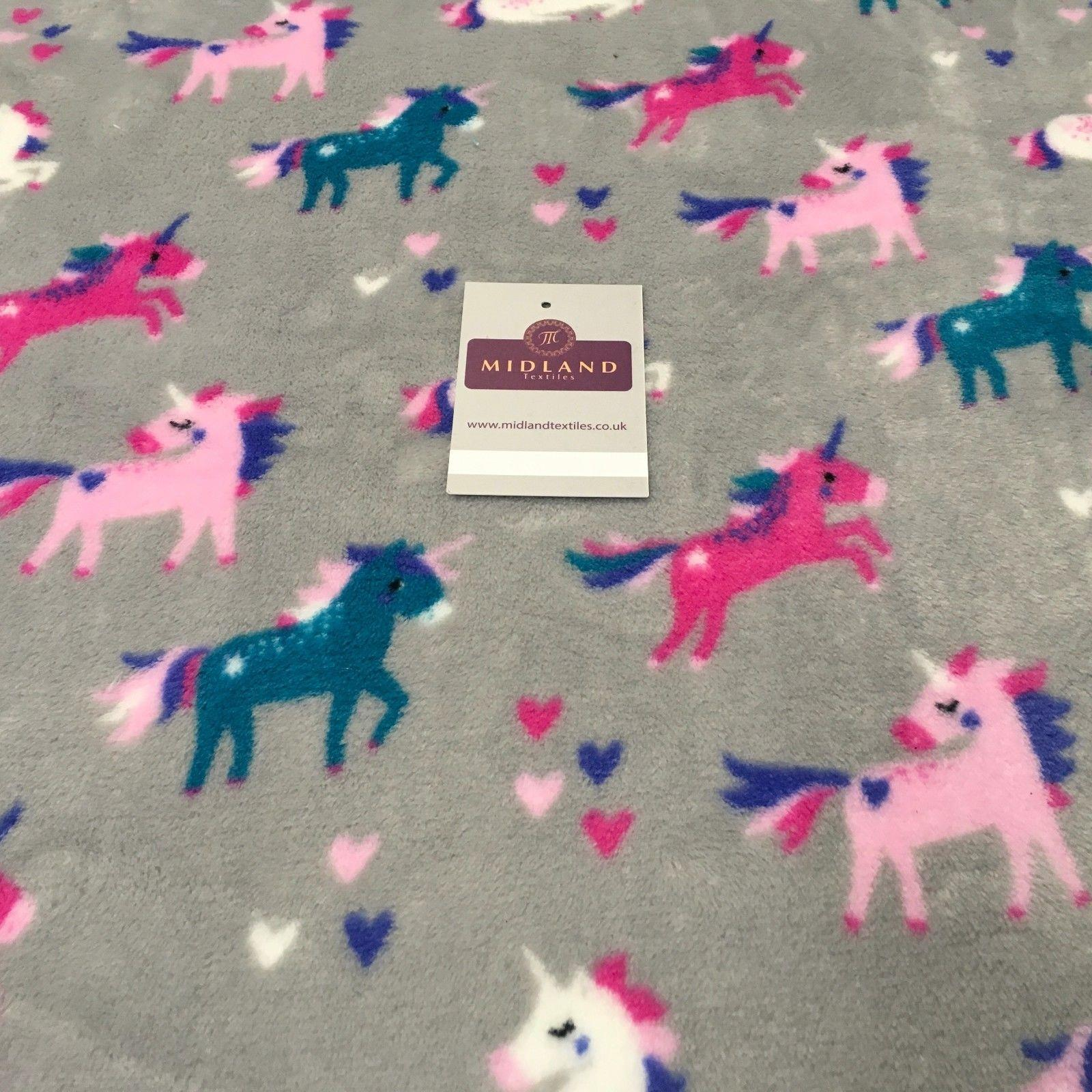 "Unicorn Soft Cuddle Fleece Fabric 100% Polyester 58"" M700 Mtex"