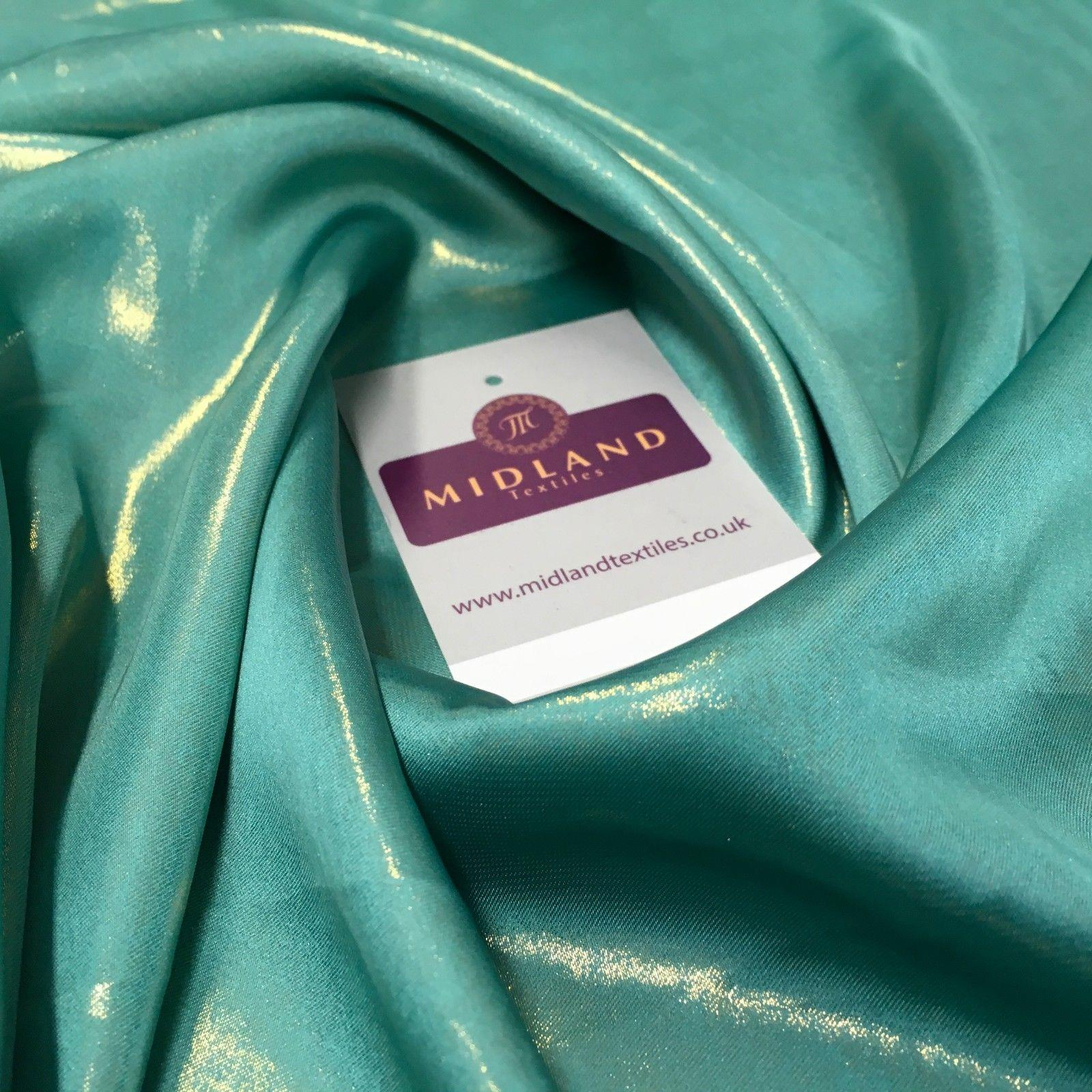 "Silky Lightweight Charmeuse Shimmer Satin Foil Non-Stretch fabric 58"" MQ1036"