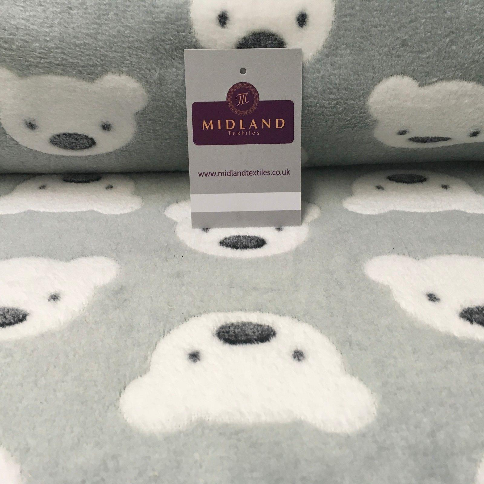 "Teddy bears Soft Cuddle Fleece fabric ideal for blankets, throws 60"" Wide MH1018"