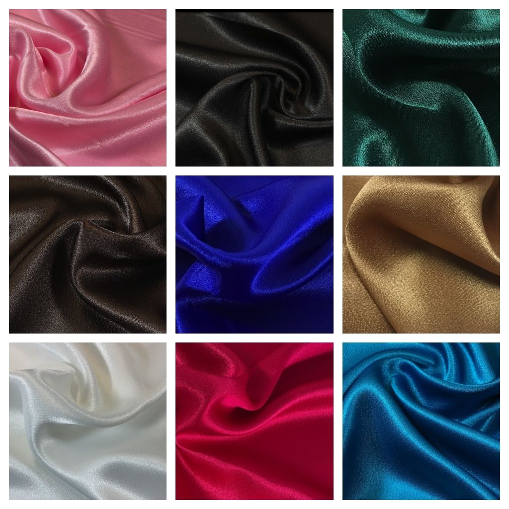 "High-Quality Silky smooth crepe back liquid Satin 44"" M87 Mtex"