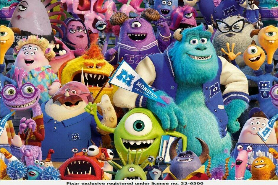Monsters Inc Licensed Digital Cotton Jersey Printed Fabric 150cm Wide MX1058