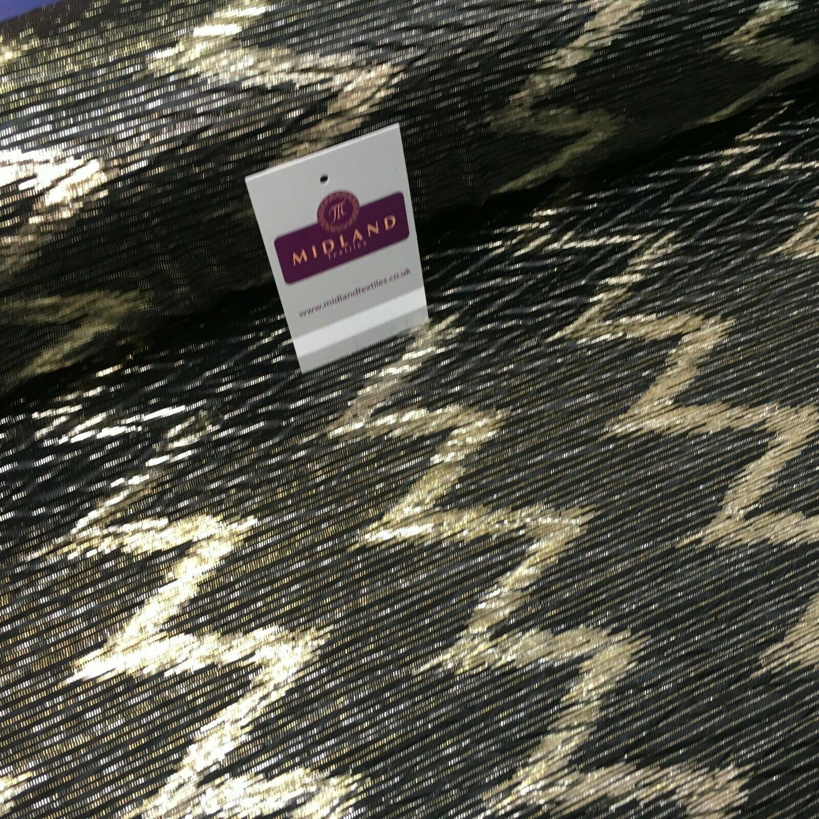 Pleated Crinkle Chevron metallic foil Zigzag Jersey Dance Fabric MH1066 Mtex