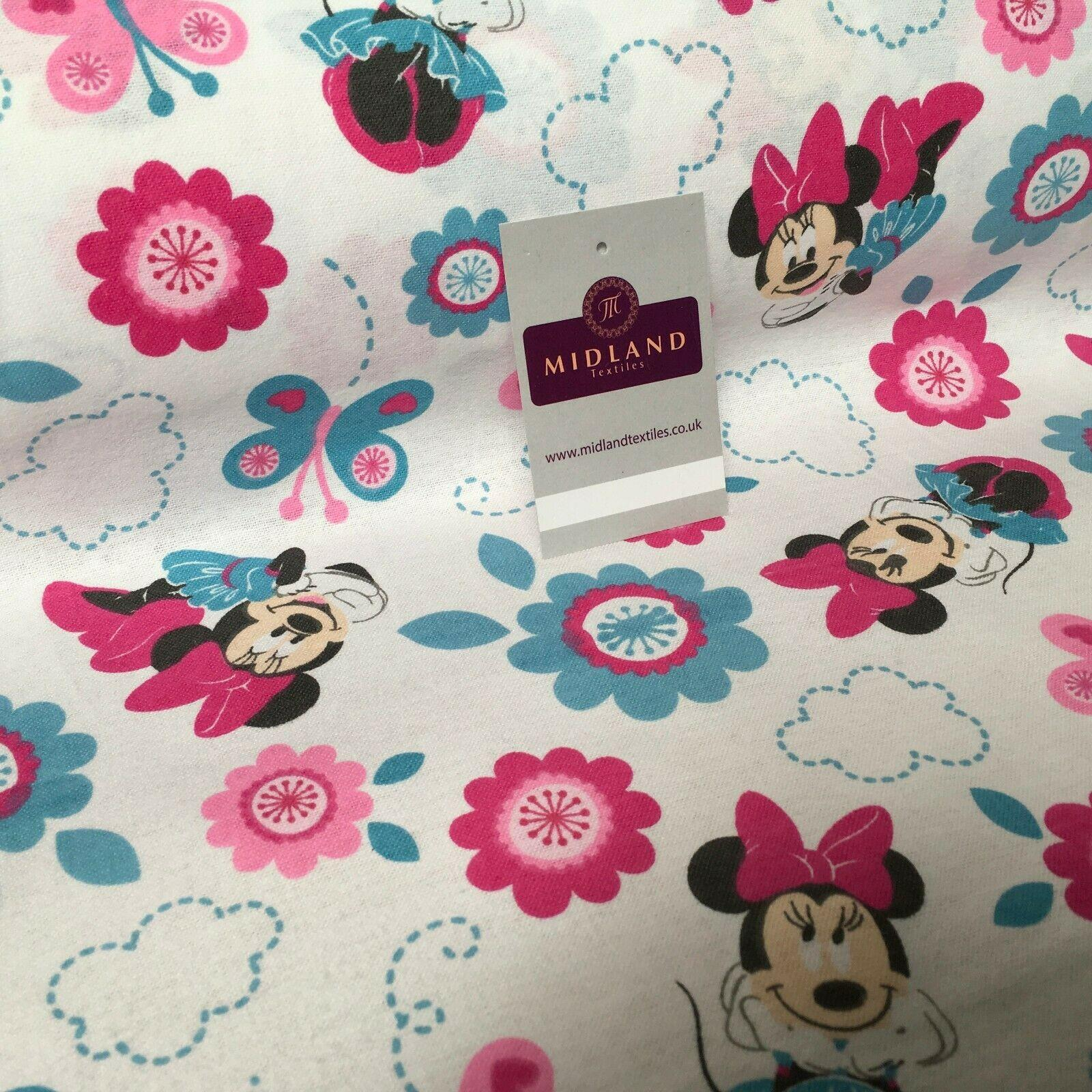 Minnie Mouse Cotton Wynciette Soft Brushed Flannel Fabric 144 cm Wide MK988-29