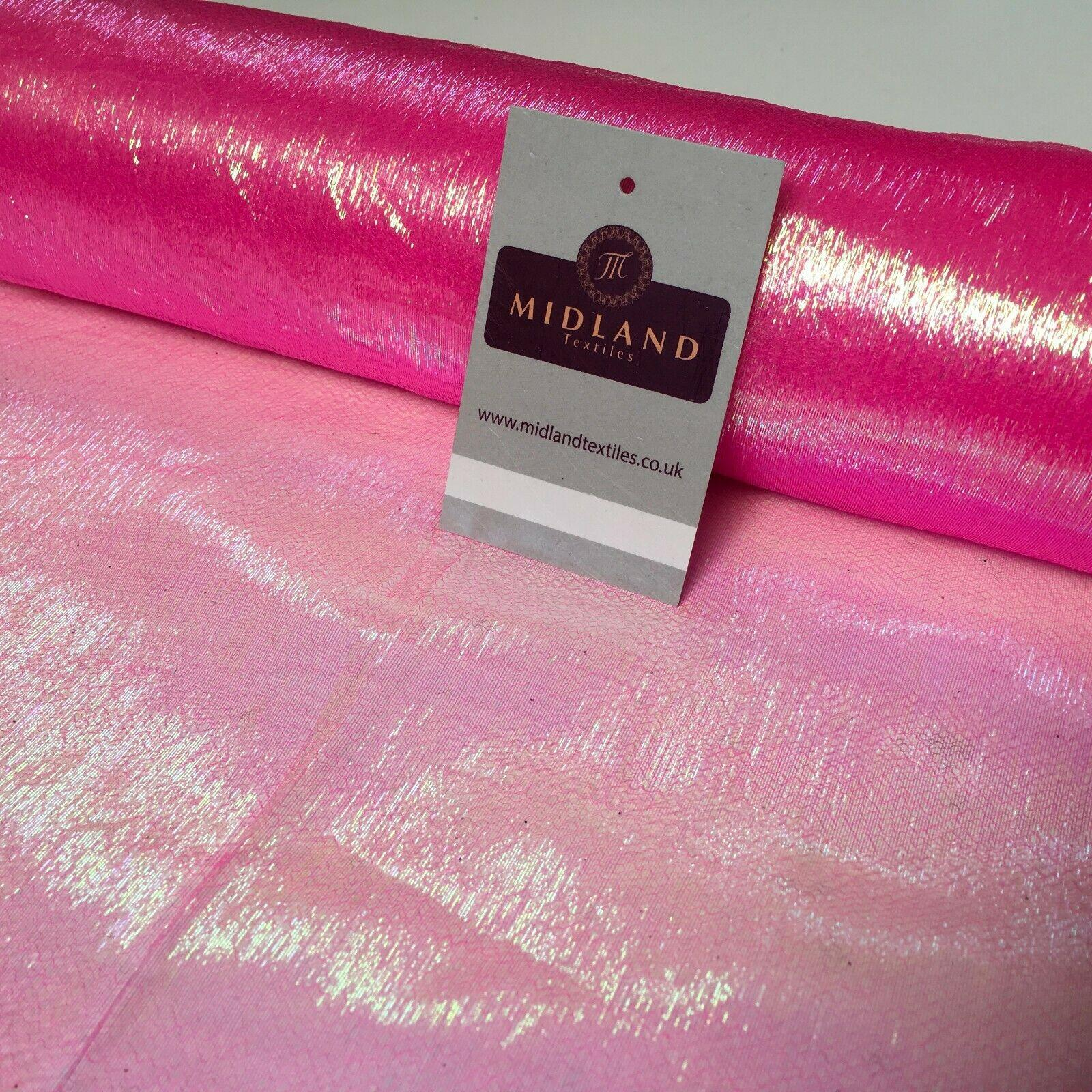 Pearlized Iridescent Crinkle Sheer Organza Fabric 130cm Wide MK1082 Mtex