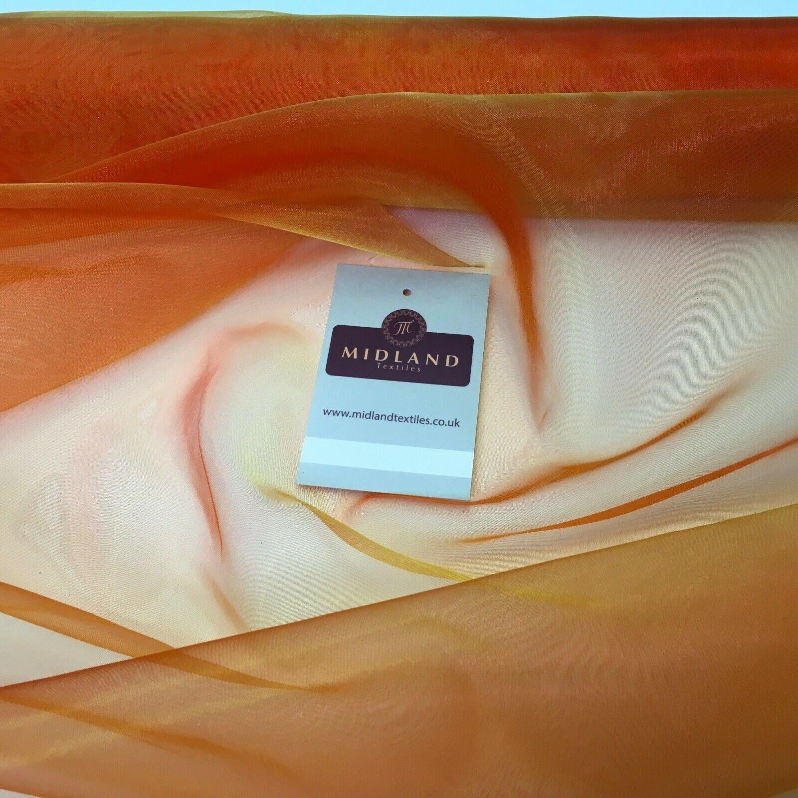 Two Toned Organza Voile Dressmaking Dance Craft Fabric 150cm Wide MK1085