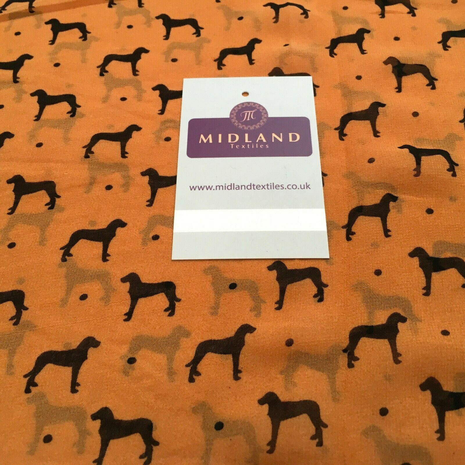 Copper Dog Printed Light High Street Chiffon Fabric 150 cm MK1084-21