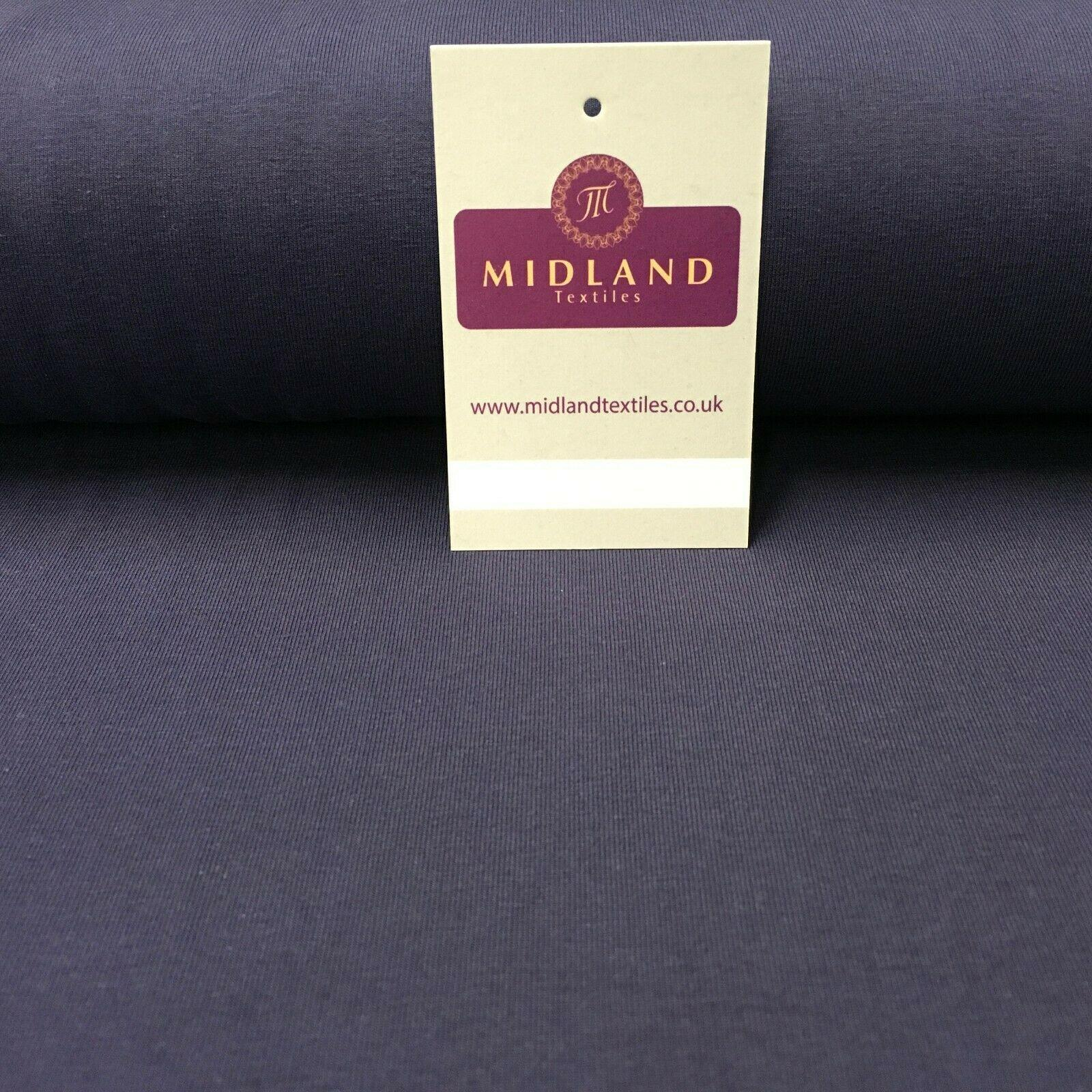 Plain Cotton Spandex knit Jersey Dress Fabric 150cm Wide MD1051 Mtex