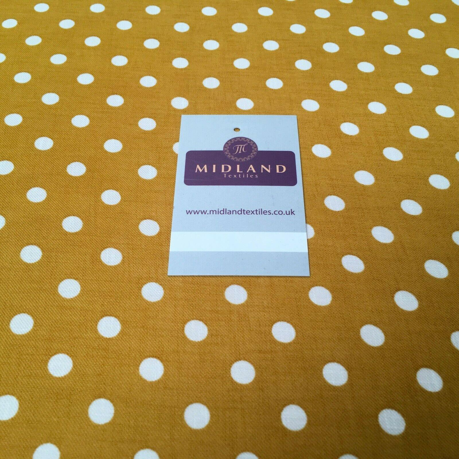 Ochre Spot Georgette crepe Linen effect dress Fabric 150cm wide MK1095-24