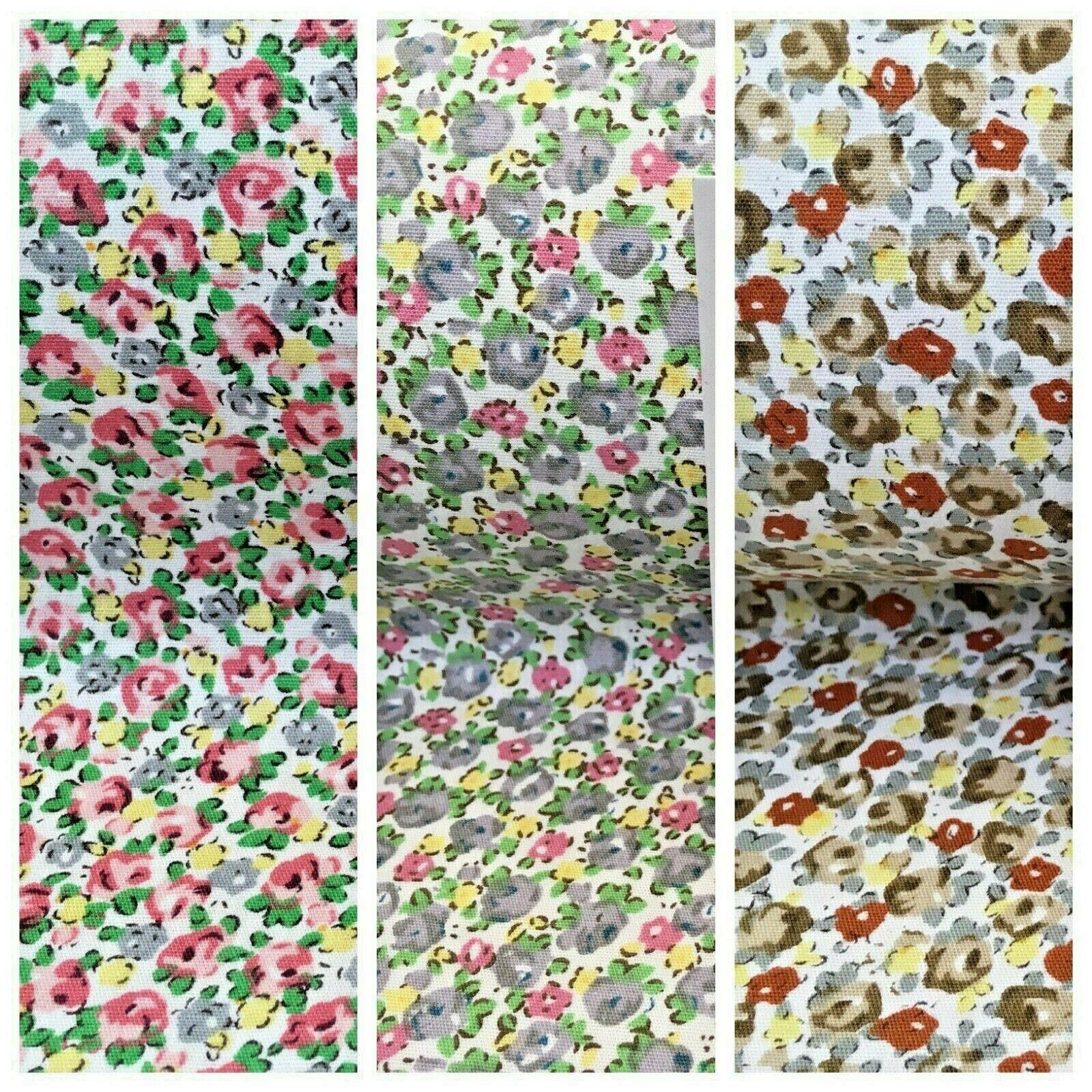 Small ditsy printed 100% Cotton Floral dress fabric 150cm MA1080 Mtex