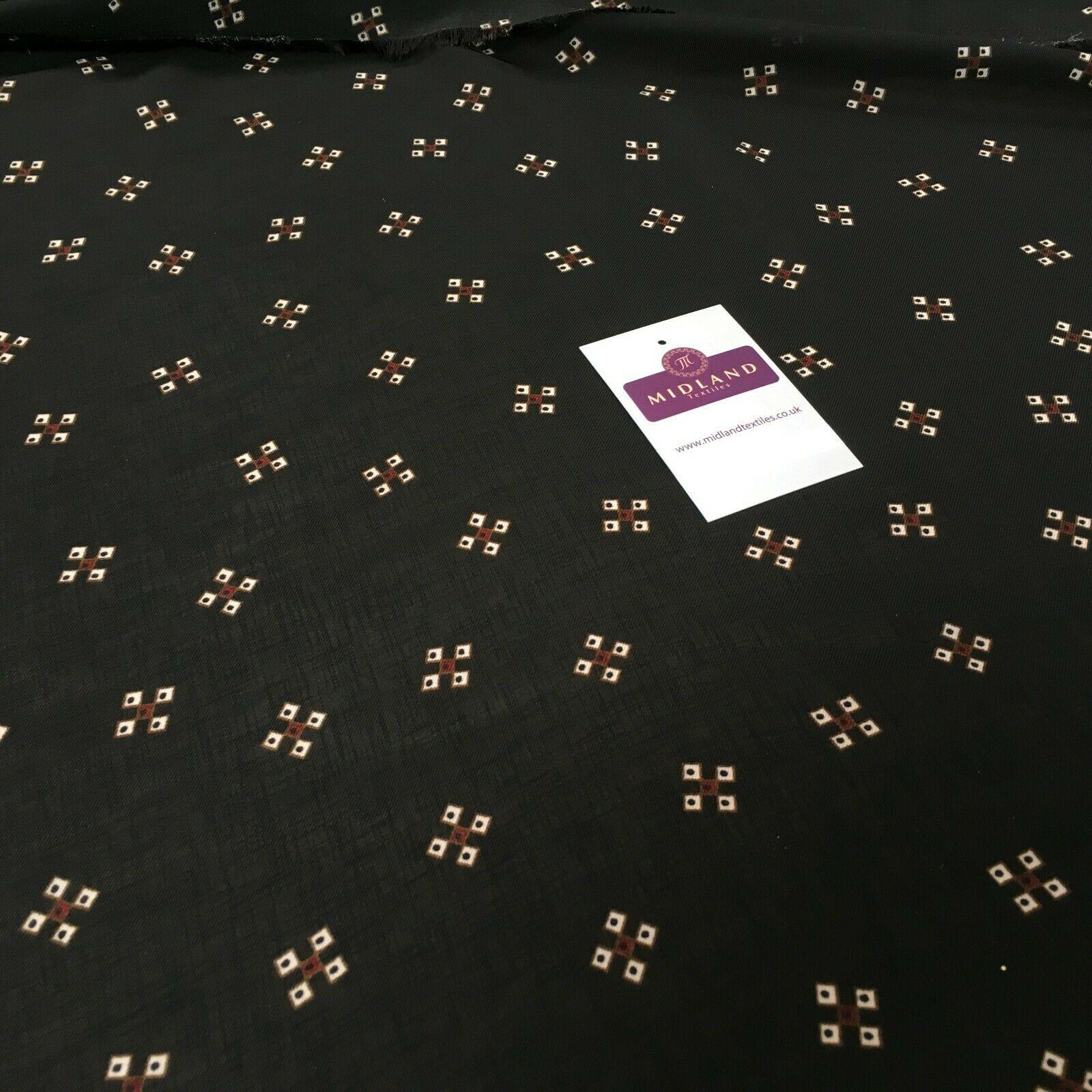 Black Georgette crepe Linen effect dress Fabric 150cm wide MK1095-25 Mtex
