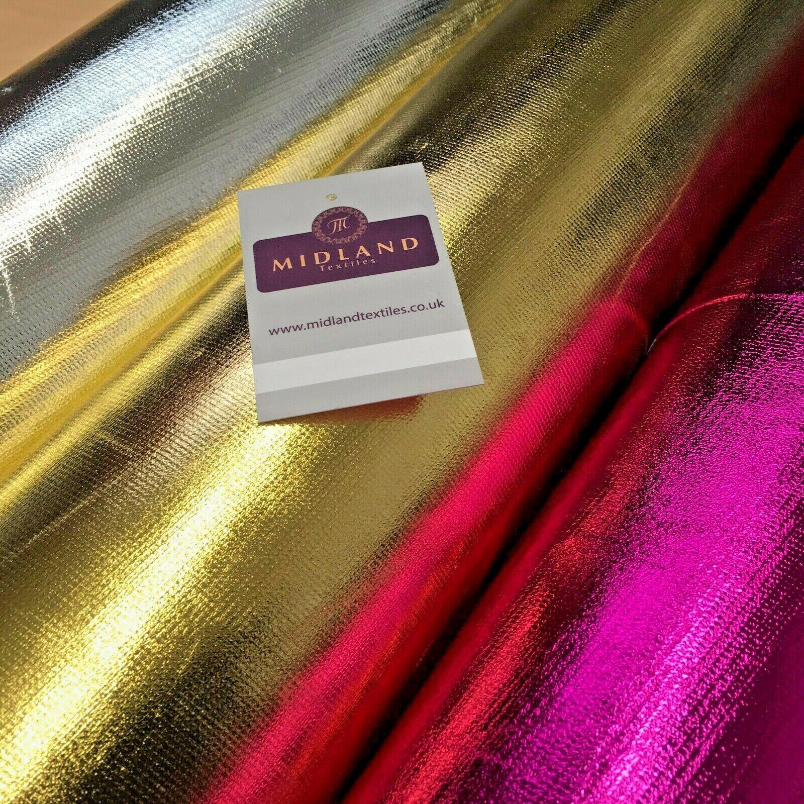 Tricot Metallic Foil Lame Costume Non Stretch Fabric 110cm Wide Mtex MK1087