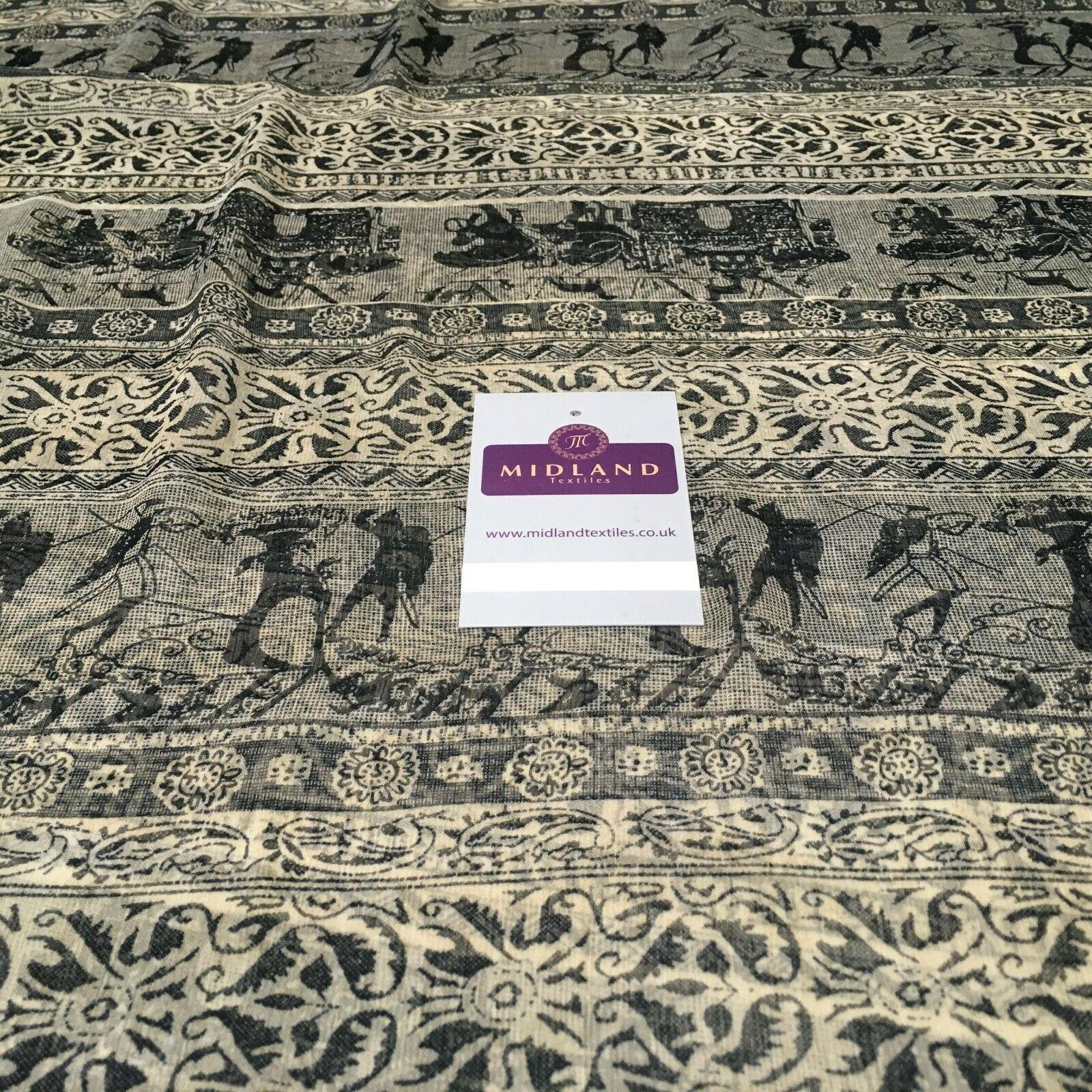 Stone Tribal printed Crinkle Georgette Chiffon fabric 150cm wide MK1090-20