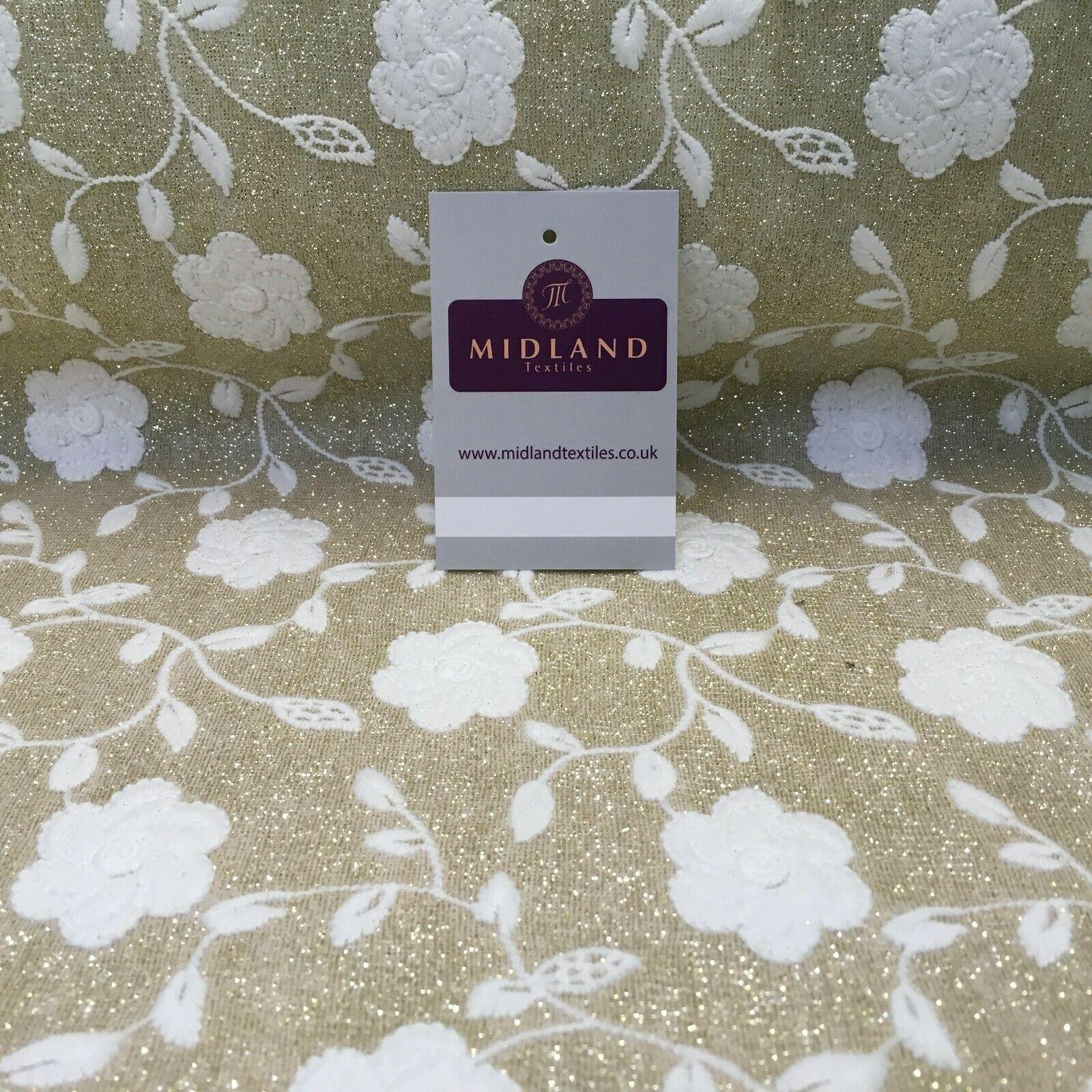 044820d8d33 Bridal Knit embroidered floral shimmer fabric Dress fabric 150cm Wide MR1109