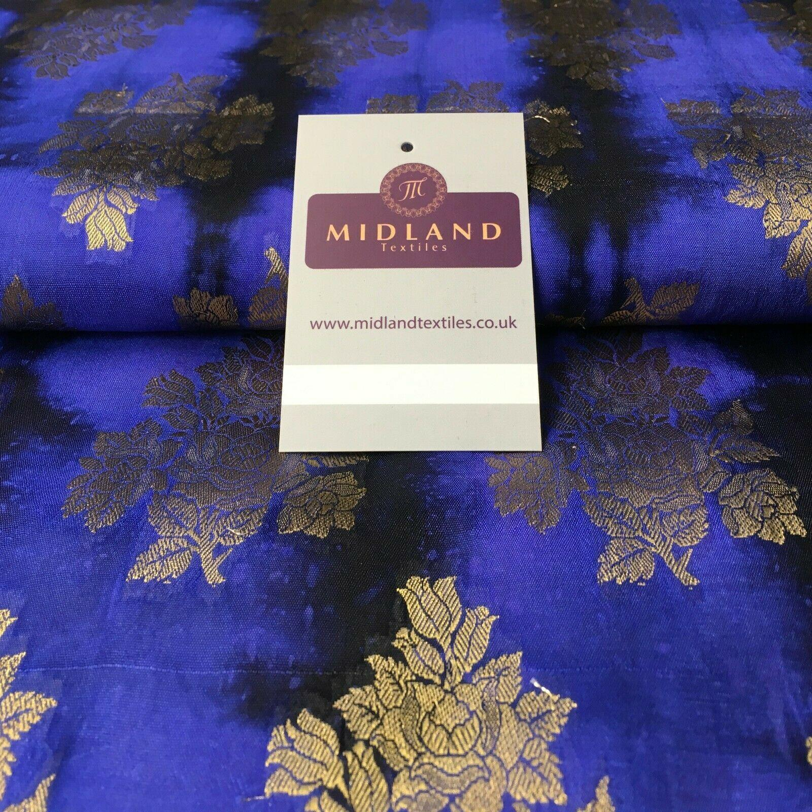 Two Tonal Floral Indian Banarsi Pure Silk Brocade fabric 100cm Wide MP1104 Mtex