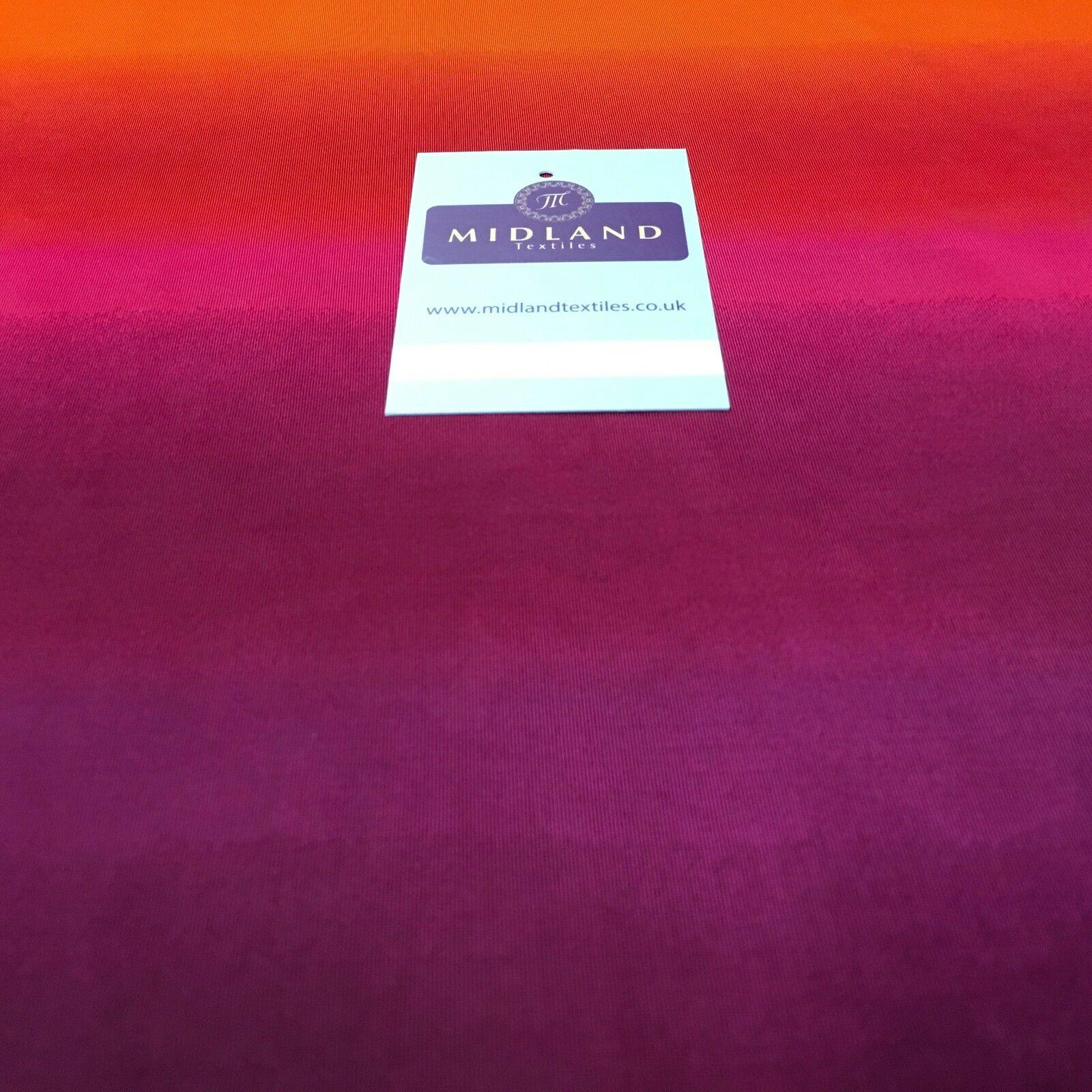 "Magenta orange ombre stretch jersey Dress Fabric 58"" Wide M976 Mtex"