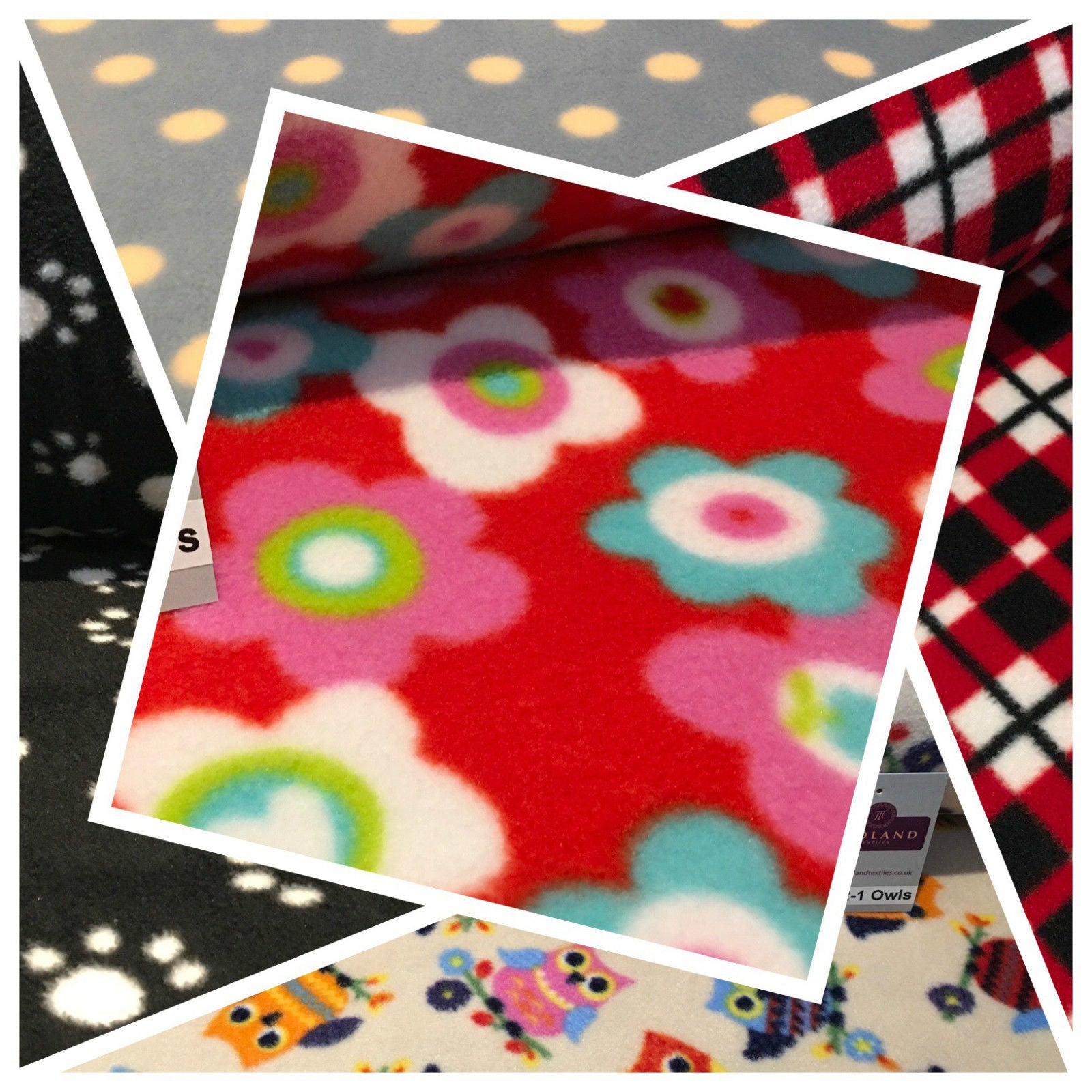 New Anti pil polar Printed fleece ideal for throws150cm wide M672 Mtex