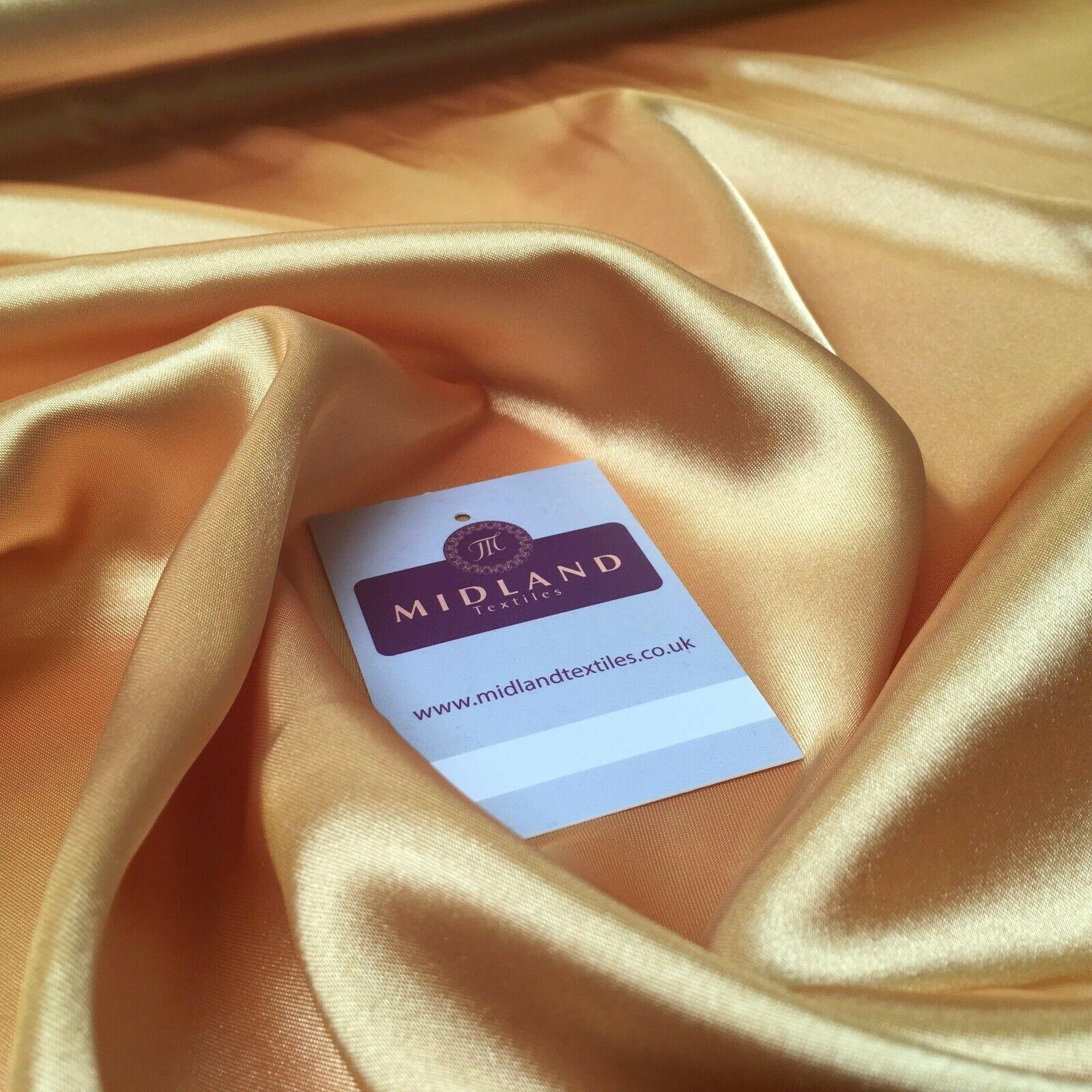 Mango Gold Liquid Satin Dressmaking fabric 110 Cm Wide MU1042 Mtex