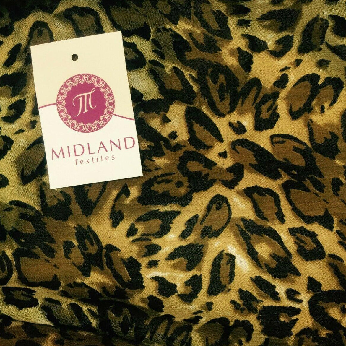 Brown Animal Printed Chiffon fabric 111 cm Wide M161-1 Mtex