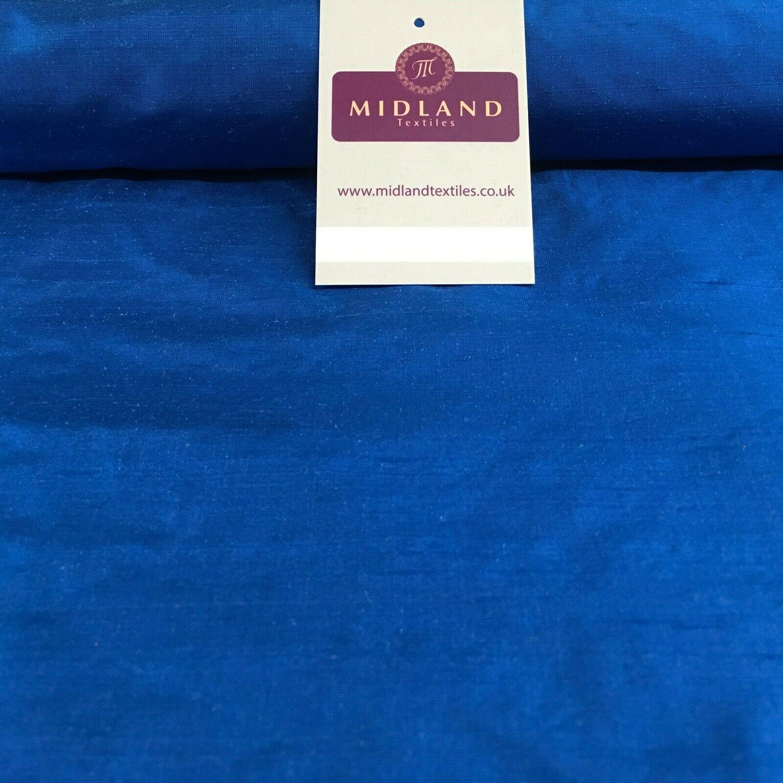 "Raw Silk Power Loom Dupion Fabric 44"" Wide Sold By Half Metre M1143 Mtex"