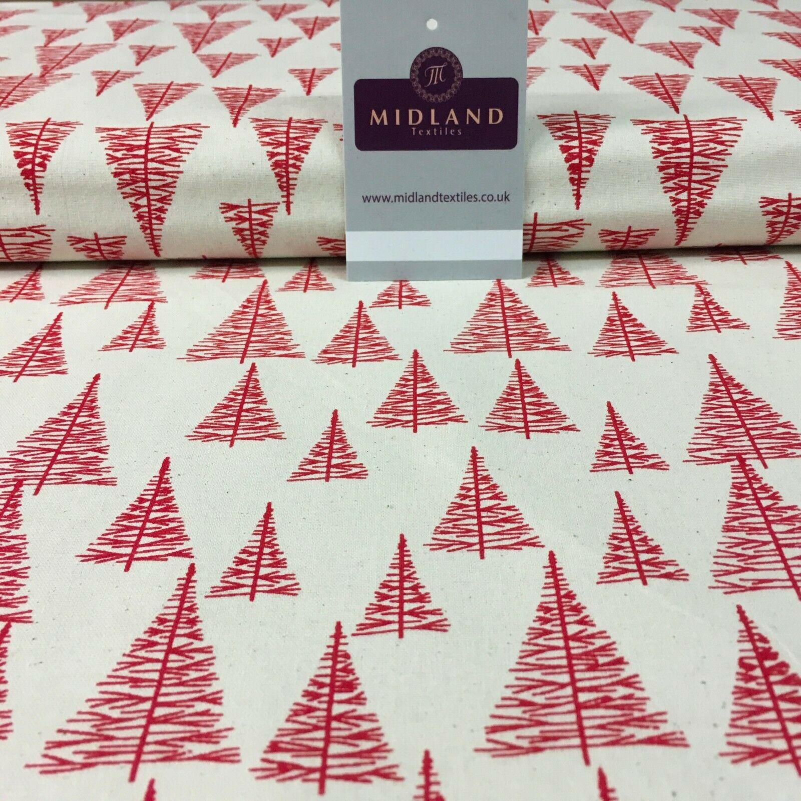 Nordic trees Christmas Cotton Printed xmas fabric 110 cm Wide MD1156 Mtex