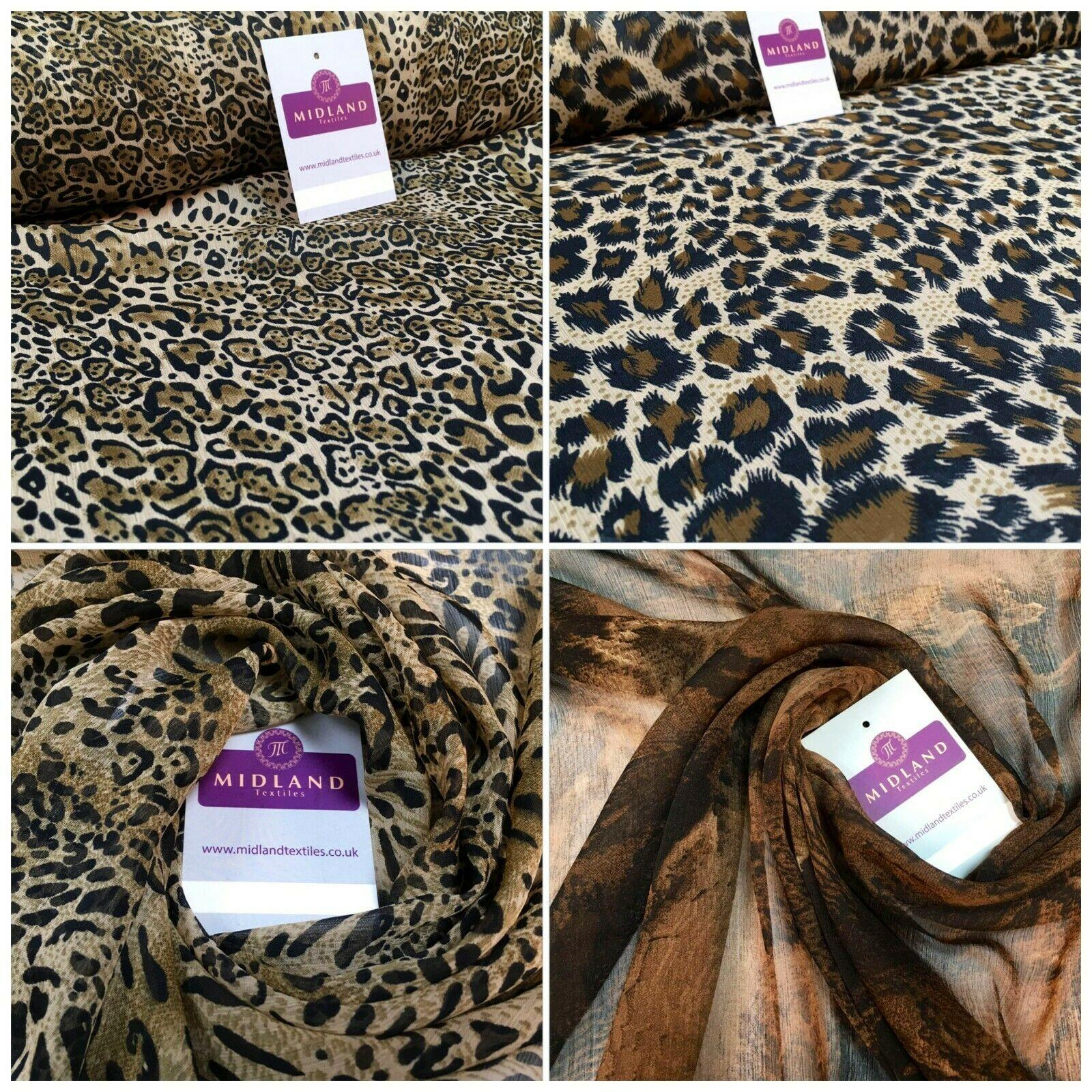 Animal Print Lightweight Chiffon Fabric 110m Wide MR1147 Mtex