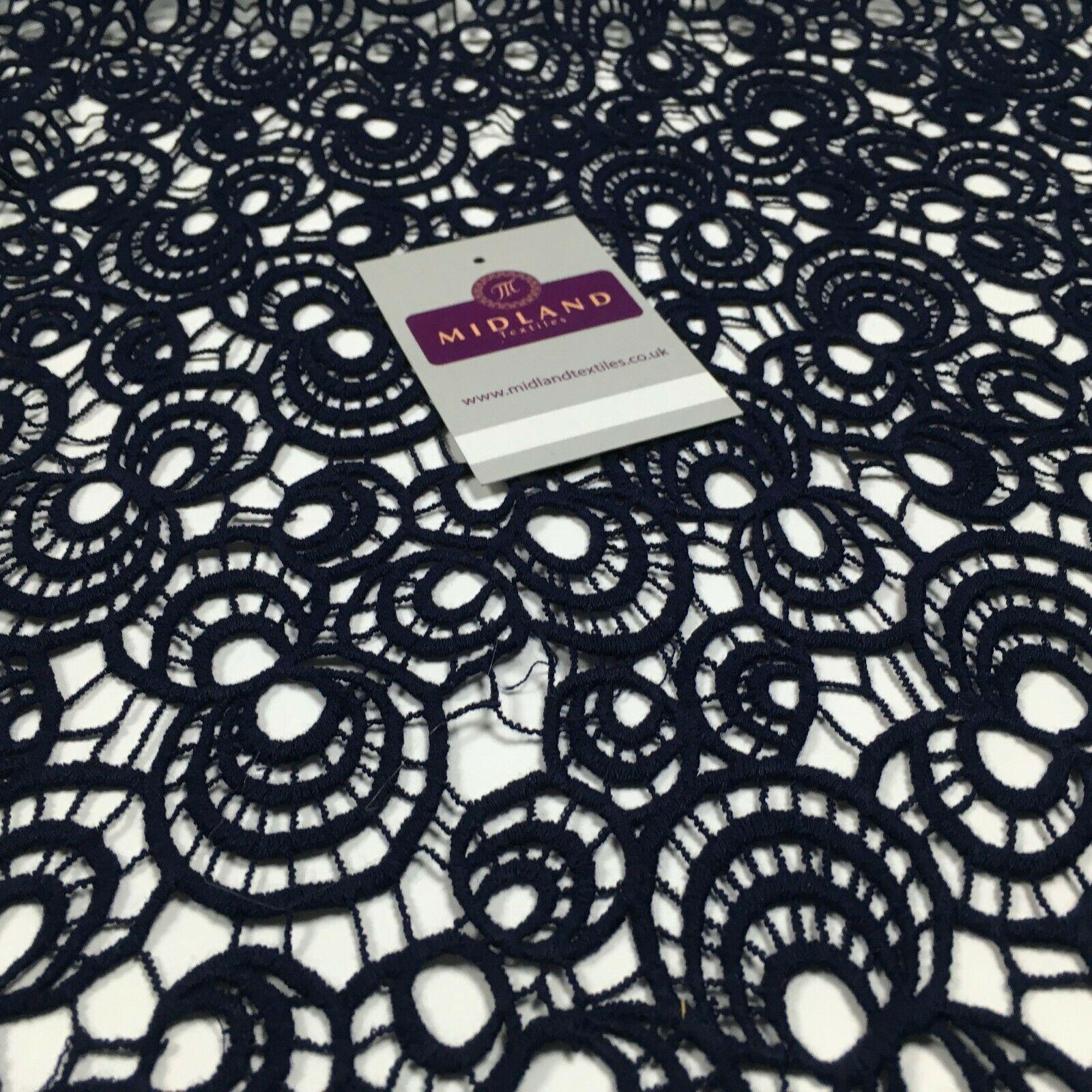 Circle Corded Chemical Lace Dress Fabric 114 cm Wide MA1137 Mtex