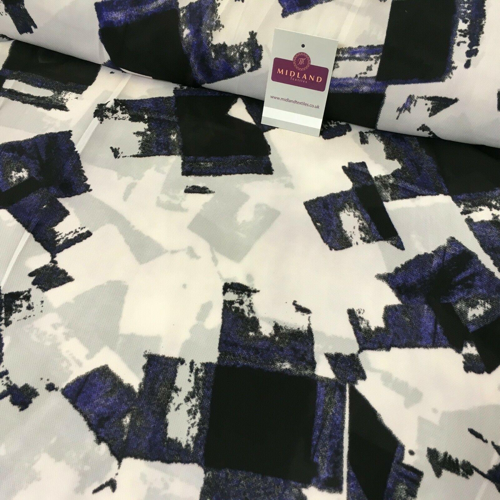 Purple Abstract soft Georgette twist voile Dress Fabric 147cm MK1185-11