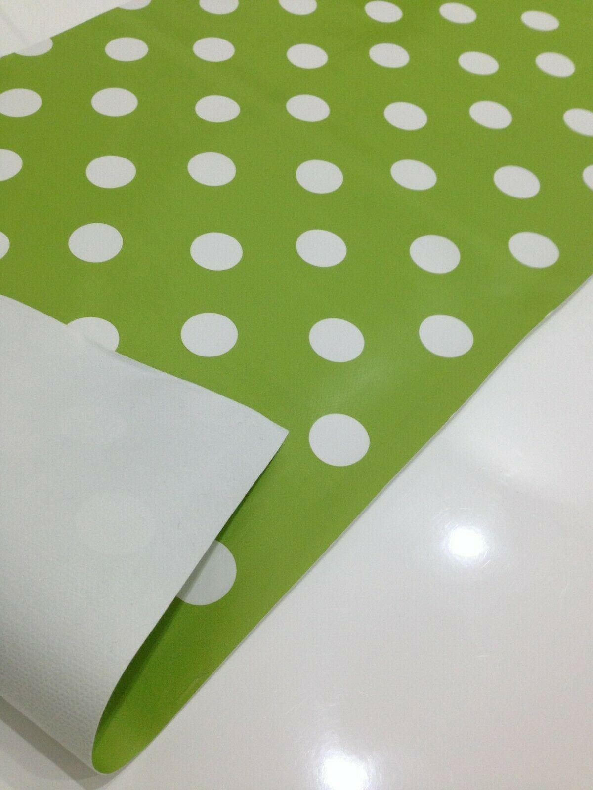 Spotted Wipe clean Tablecloth oilcloth vinyl PVC Spot polka dot 140cm wide M40