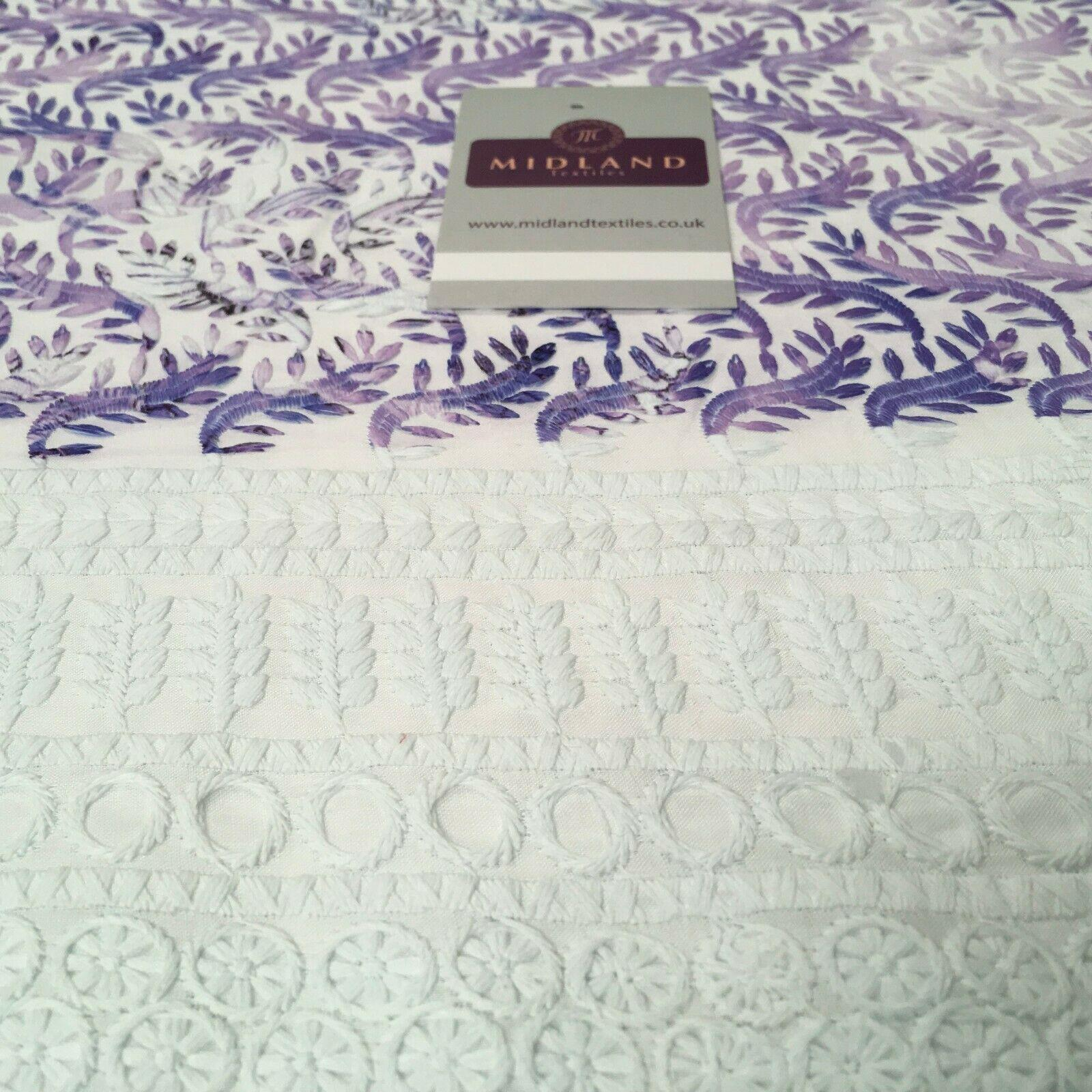 Cotton broderie anglaise Border double scalloped fabric 139cm M1197 Mtex