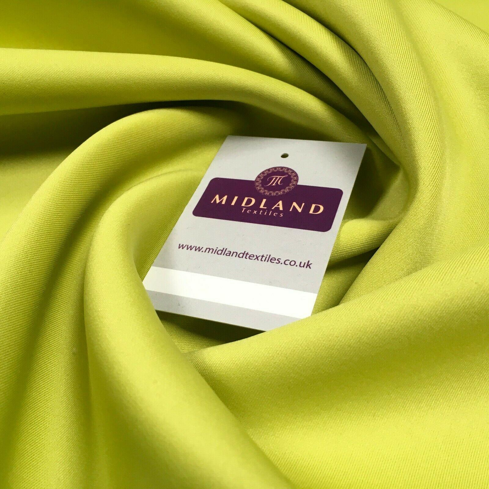 Plain Lime scuba stretch Fabric 147 cm M720-64 Mtex